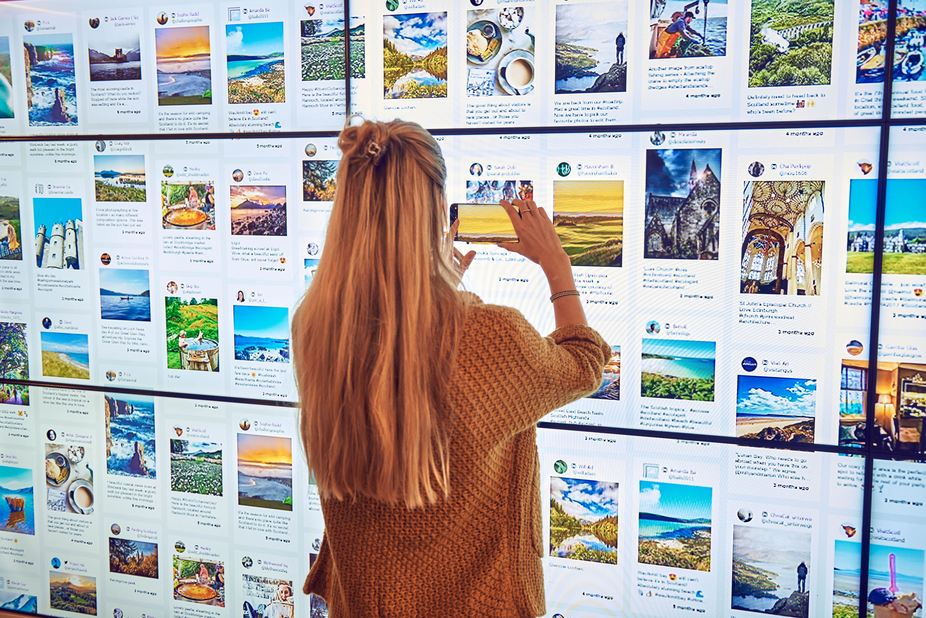 First ever Instagram Travel Agency in central London which allows visitors to build their own holidays to Scotland based entirely around other people's Instagram photos. (VisitScotland/PA Wire)