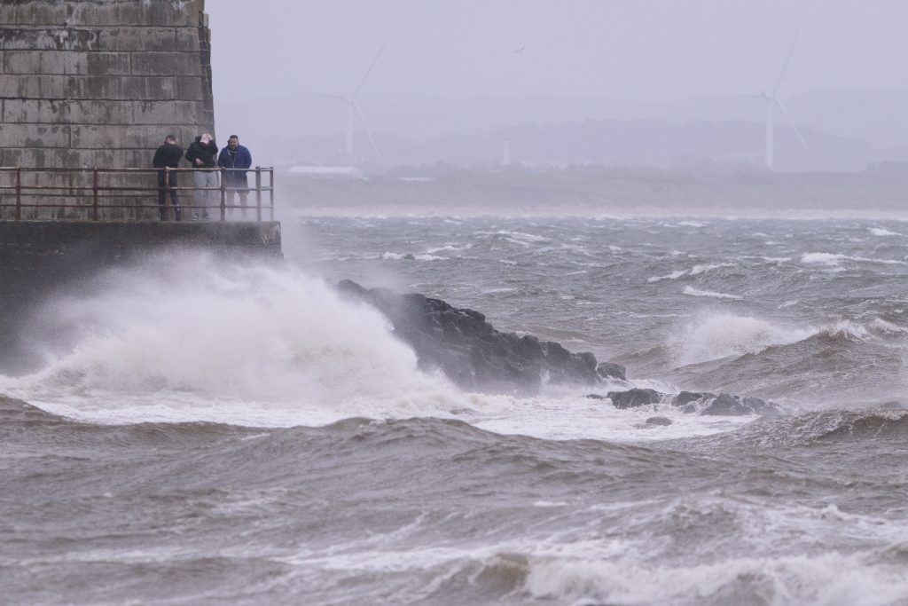 Saltcoats on the west coast of Scotland as Storm Ophelia hits Britain's west coast. (John Linton/PA Wire)