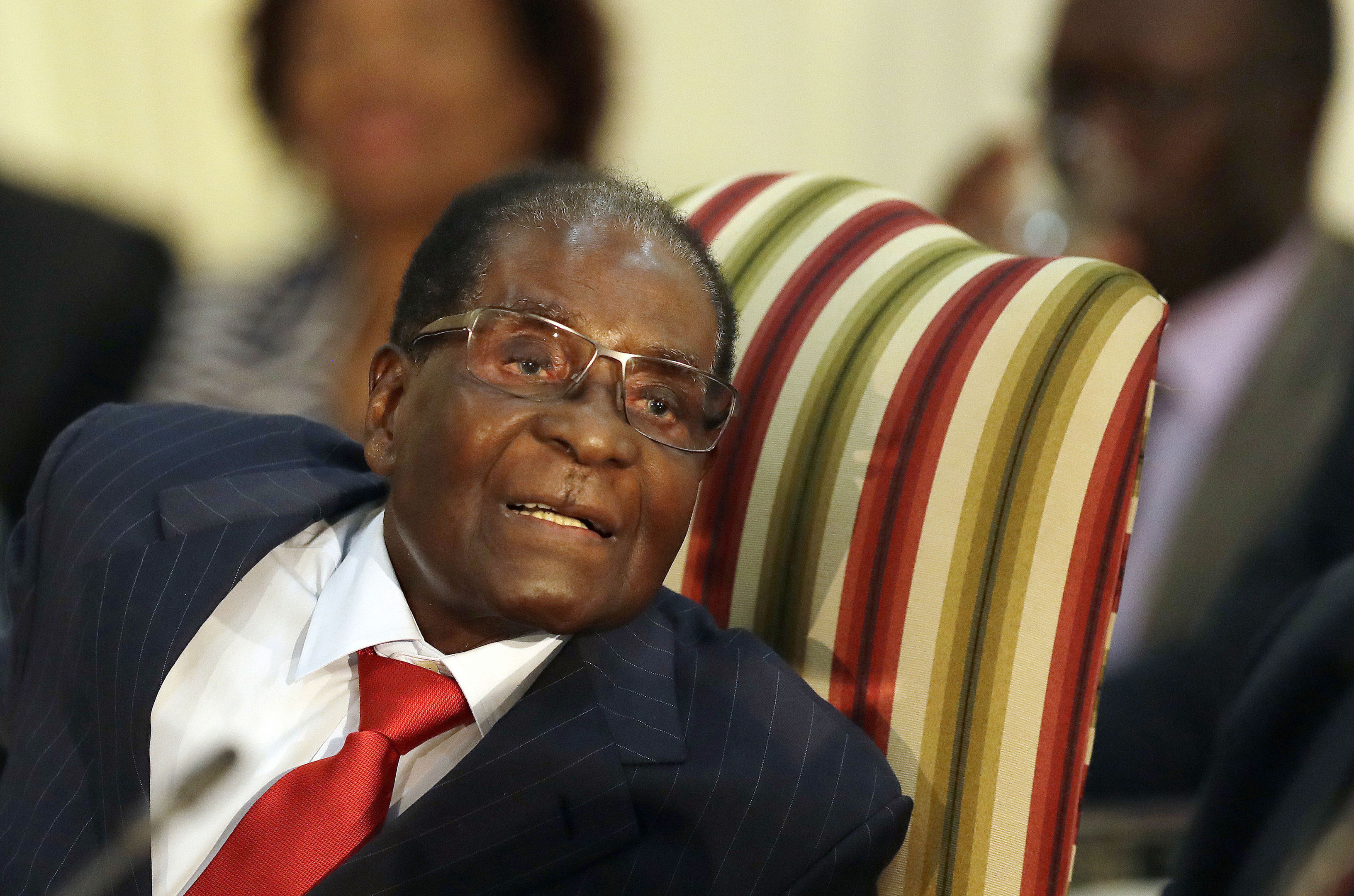 Zimbabwe's President Robert Mugabe (AP Photo/Themba Hadebe)