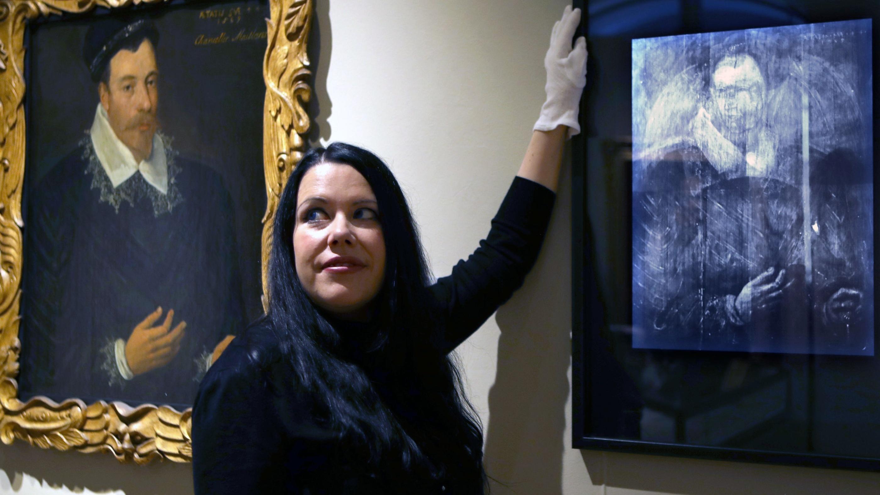 Art conservator Dr Caroline Rae at the Scottish National Portrait Gallery, Edinburgh (Jane Barlow/PA)