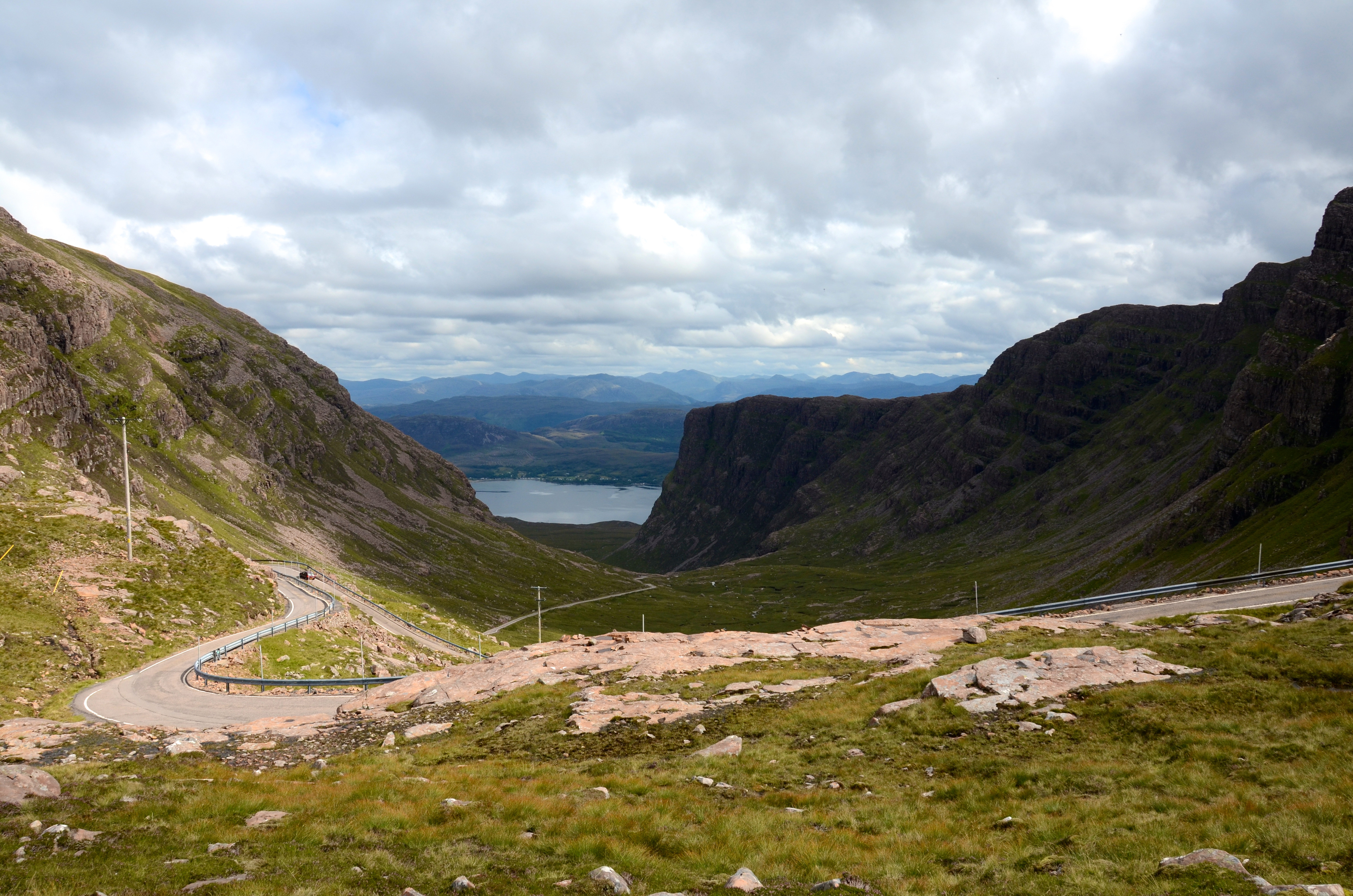 The road at Bleach Na Ba, one of the highest roads in the UK. (iStock)