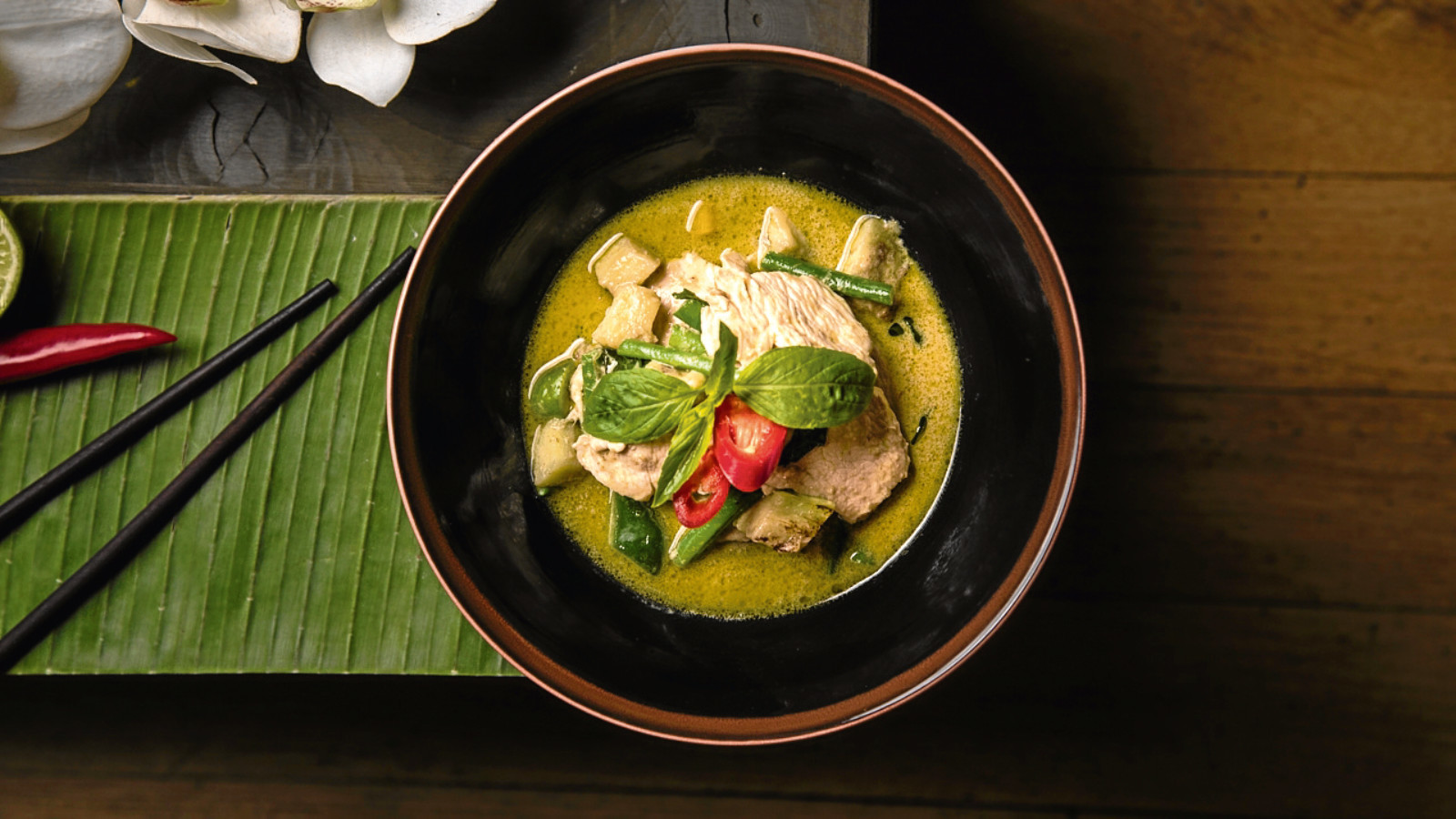 Thai green chicken curry (Daniel Ogulewicz)