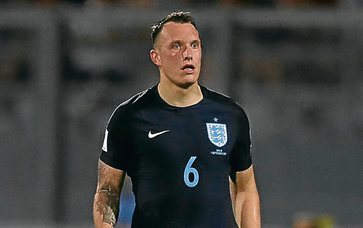 Phil Jones in action for England (Kieran McManus/BPI/REX/Shutterstock )