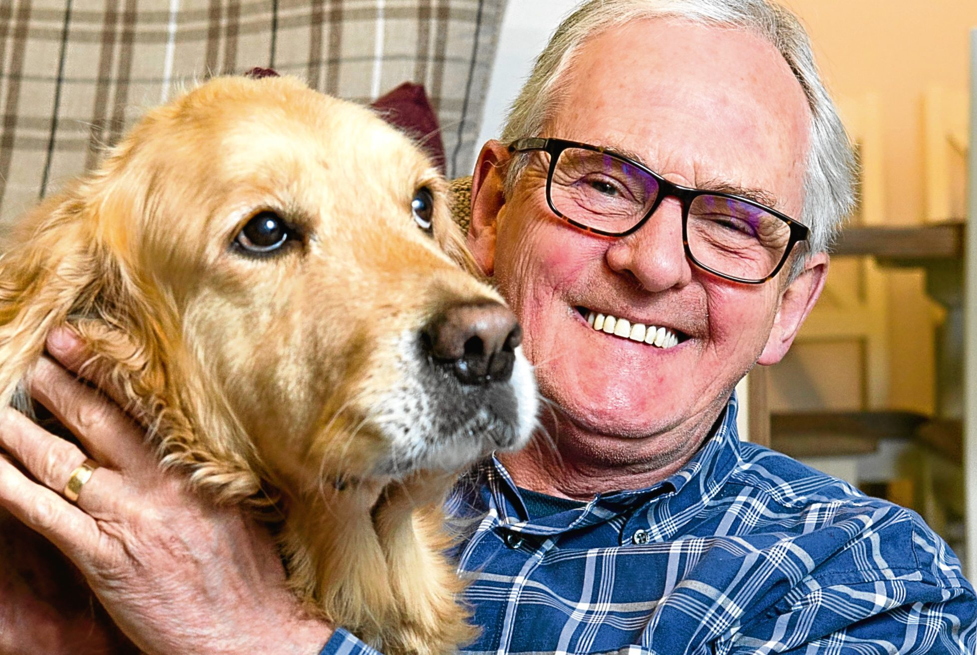 Ivan Williams (and his dog Millie), who has a heart condition called Atrial Fibrillation (Andrew Cawley / DC Thomson)