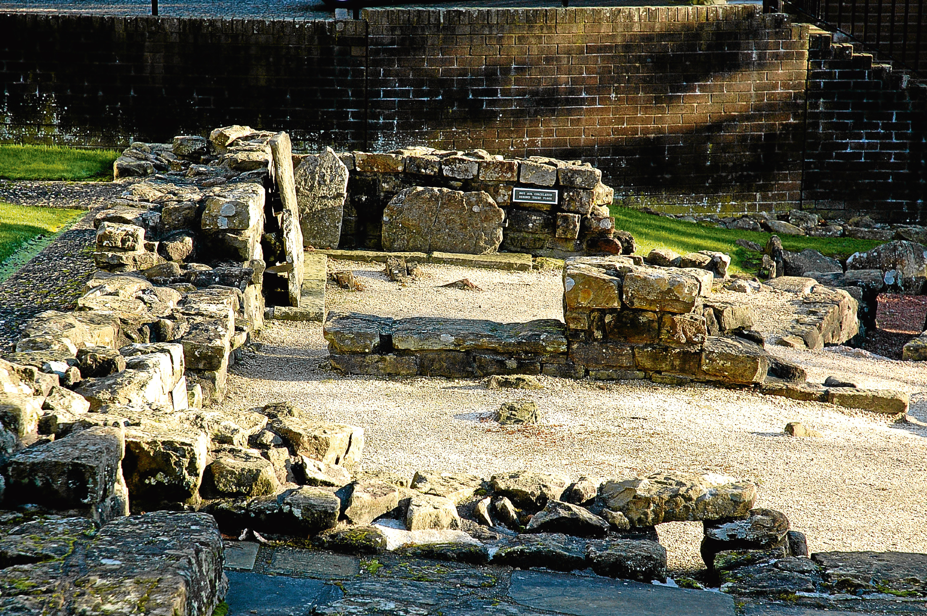 The bath house in the Roman fort excavated at Bearsden (Andy Arthur / Alamy)