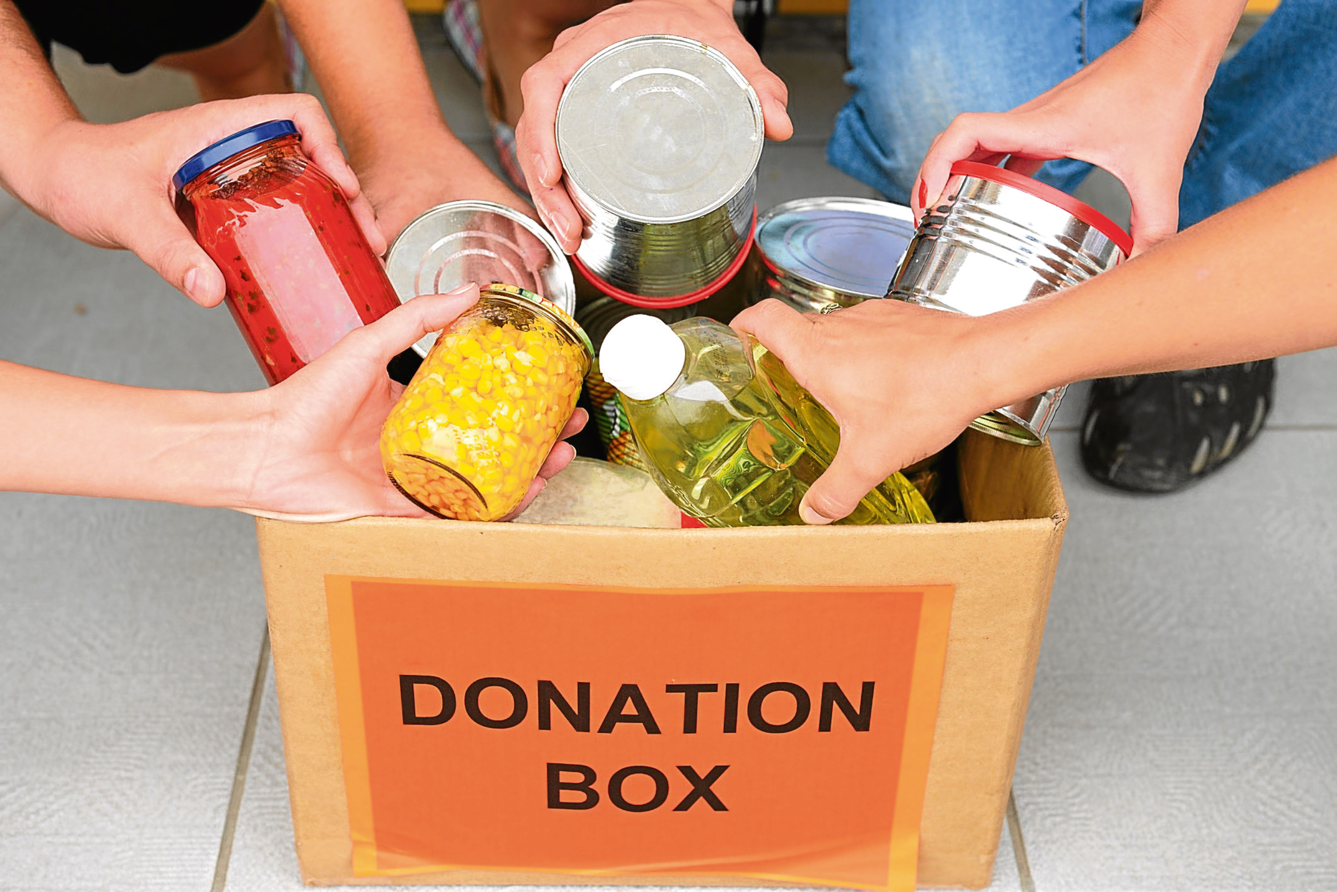 A food donation box
