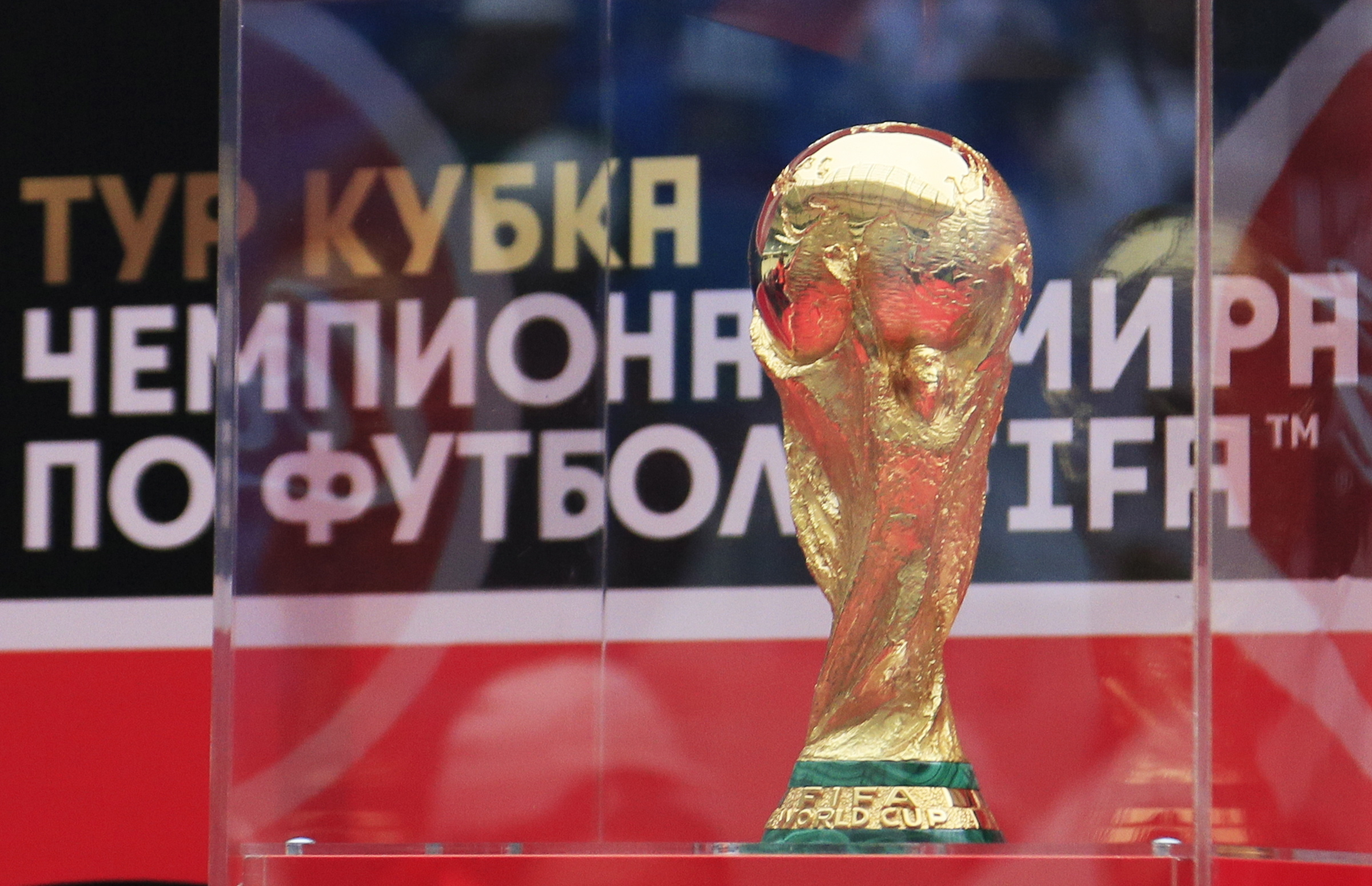 World Cup trophy (Dmitry RogulinTASS via Getty Images)