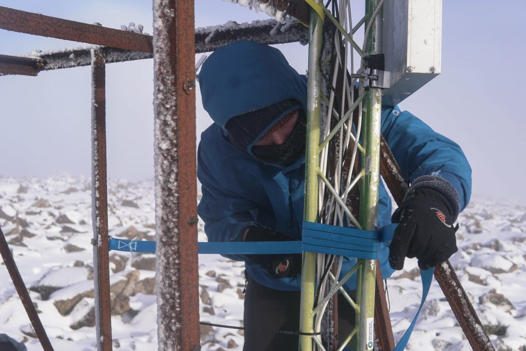 Ben Nevis weather station being set up (PA Wire)