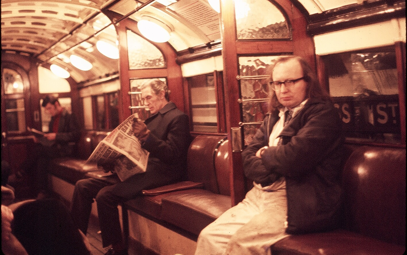 Donald Urquhart, pictured above right, was snapped by an American art student in 1975 on Glasgow's underground; the snap was shared as part of the Lost Glasgow Exhibition