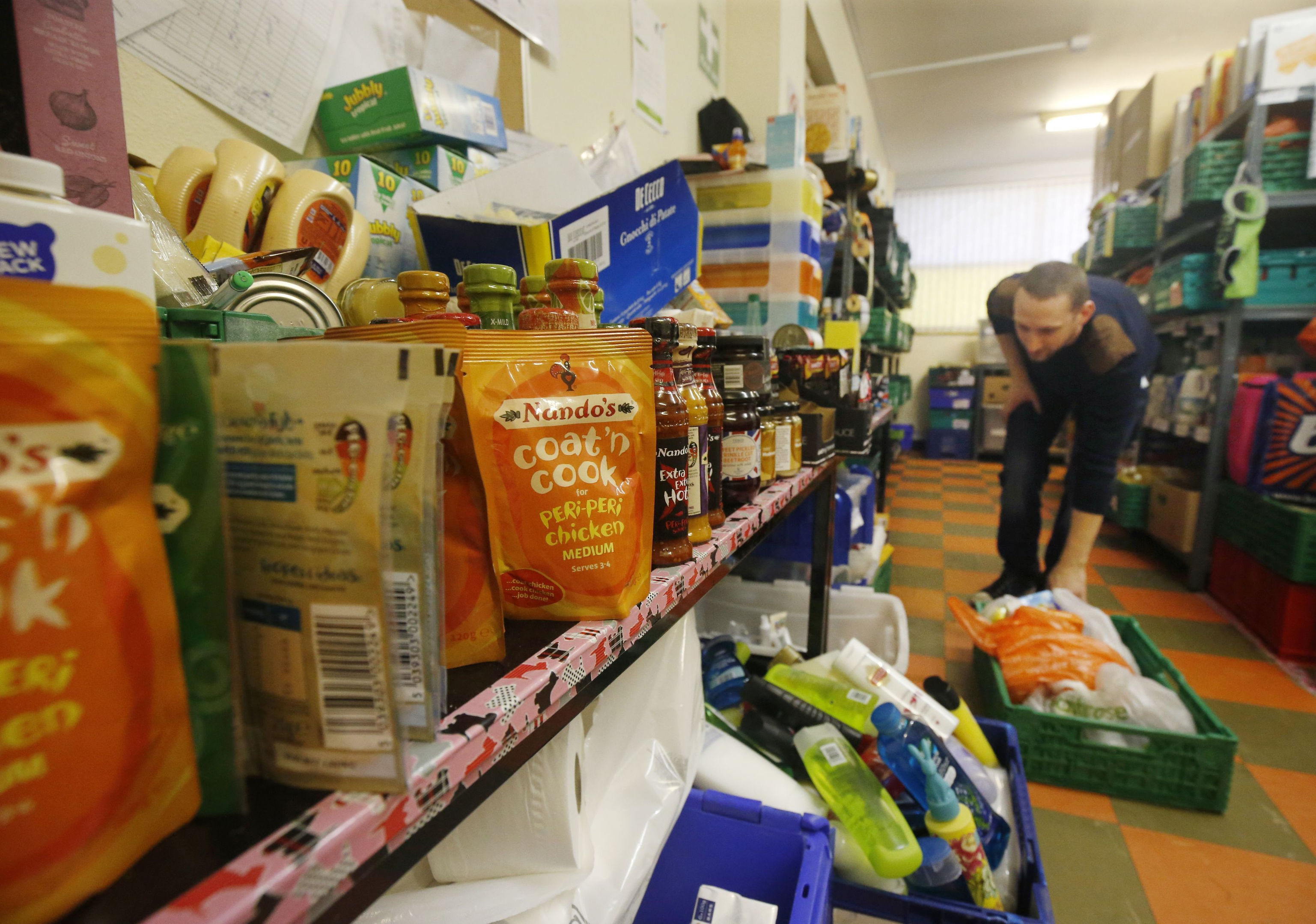 A Trussell Trust foodbank (Danny Lawson/PA Wire)