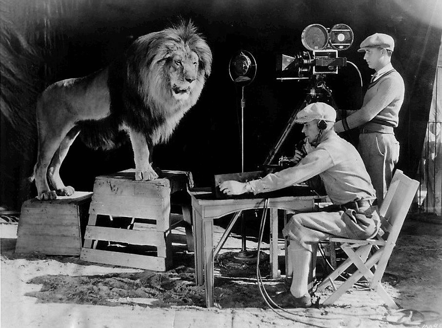 The recording of Jackie's roar for the famous MGM movies