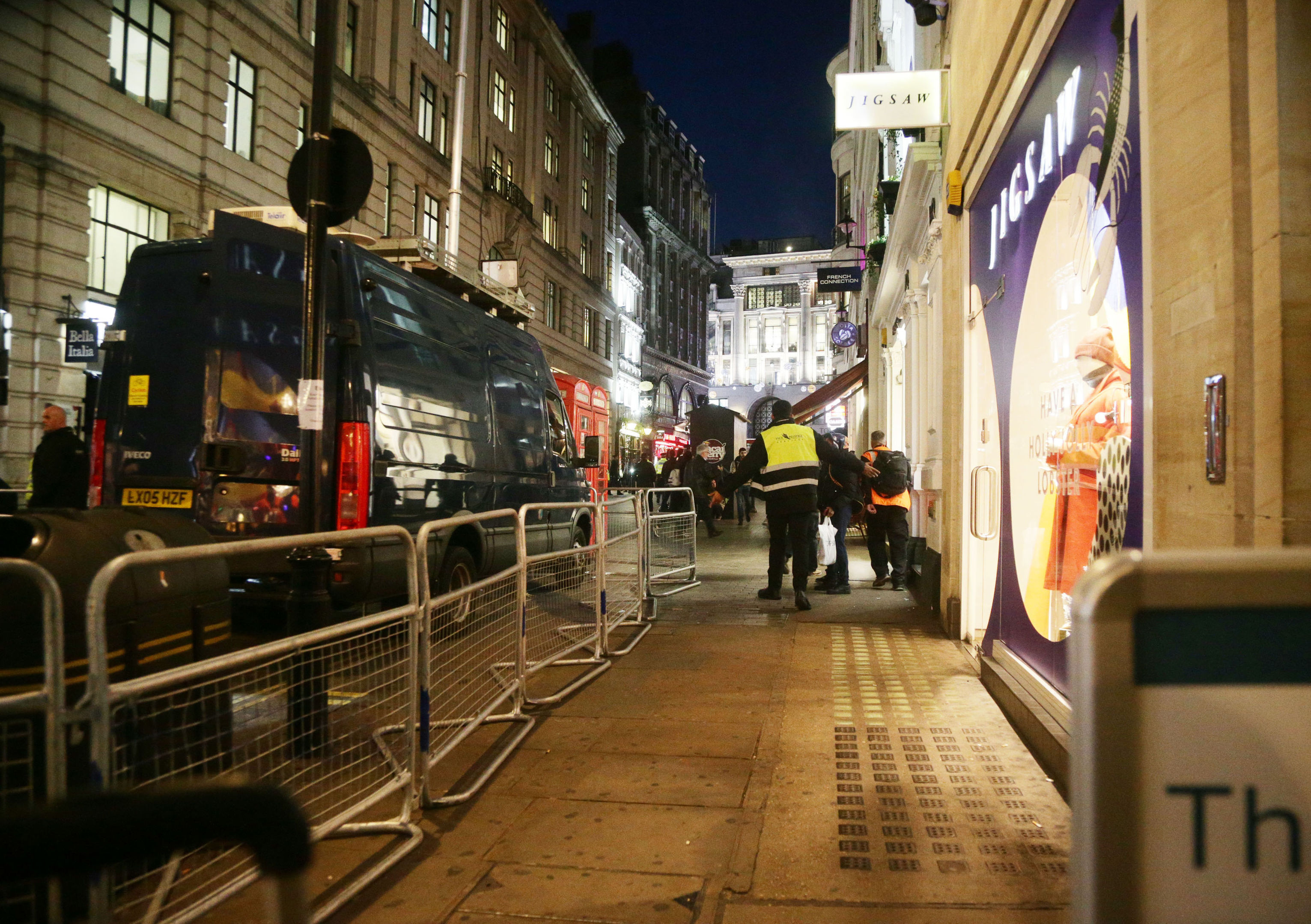 """The scene outside the London Palladium after Oxford Circus station in London was evacuated because of an """"incident"""". (Yui Mok/PA Wire)"""