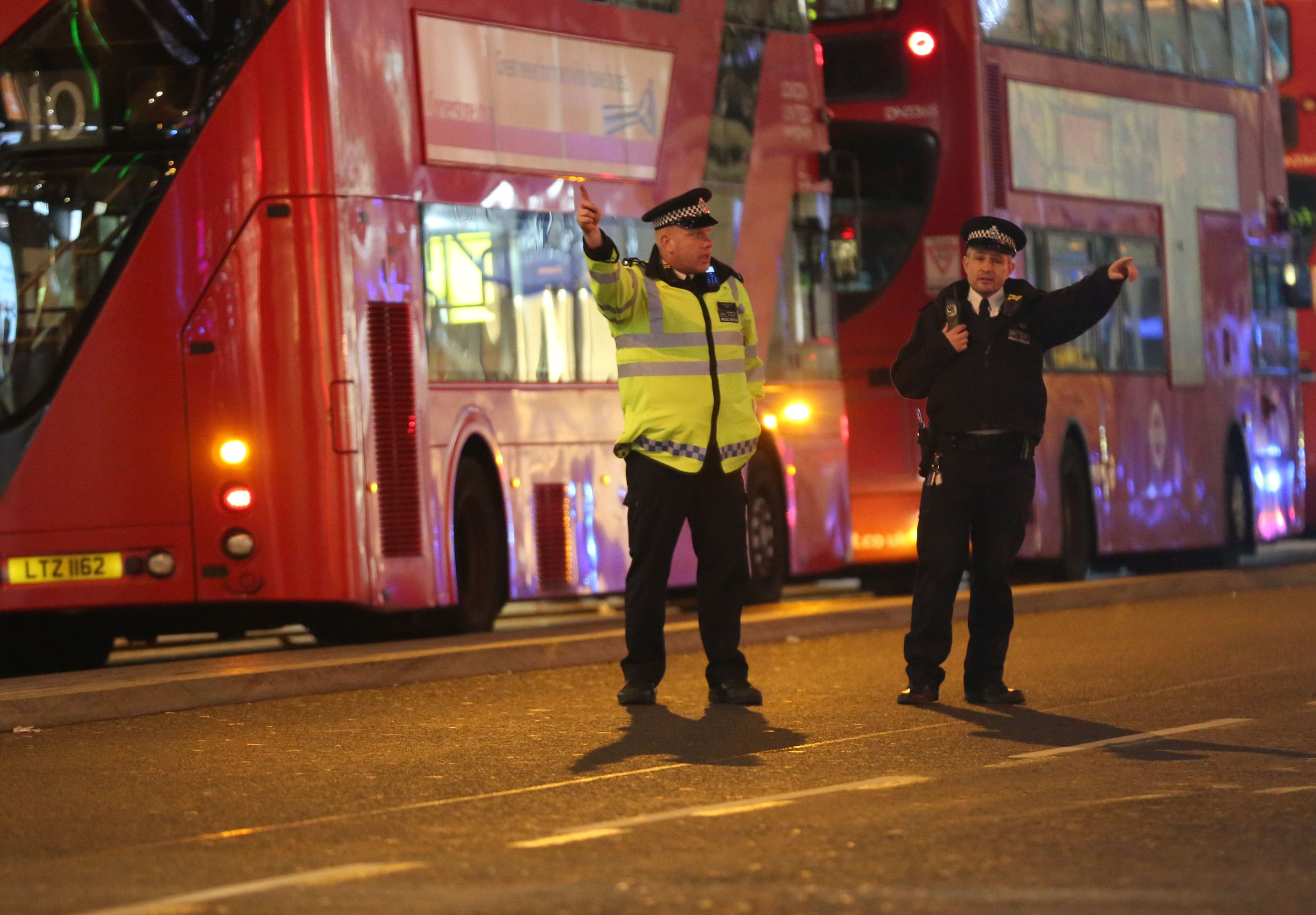 Police officers directing members of the public on Oxford Street in London (Isabel Infantes/PA Wire)