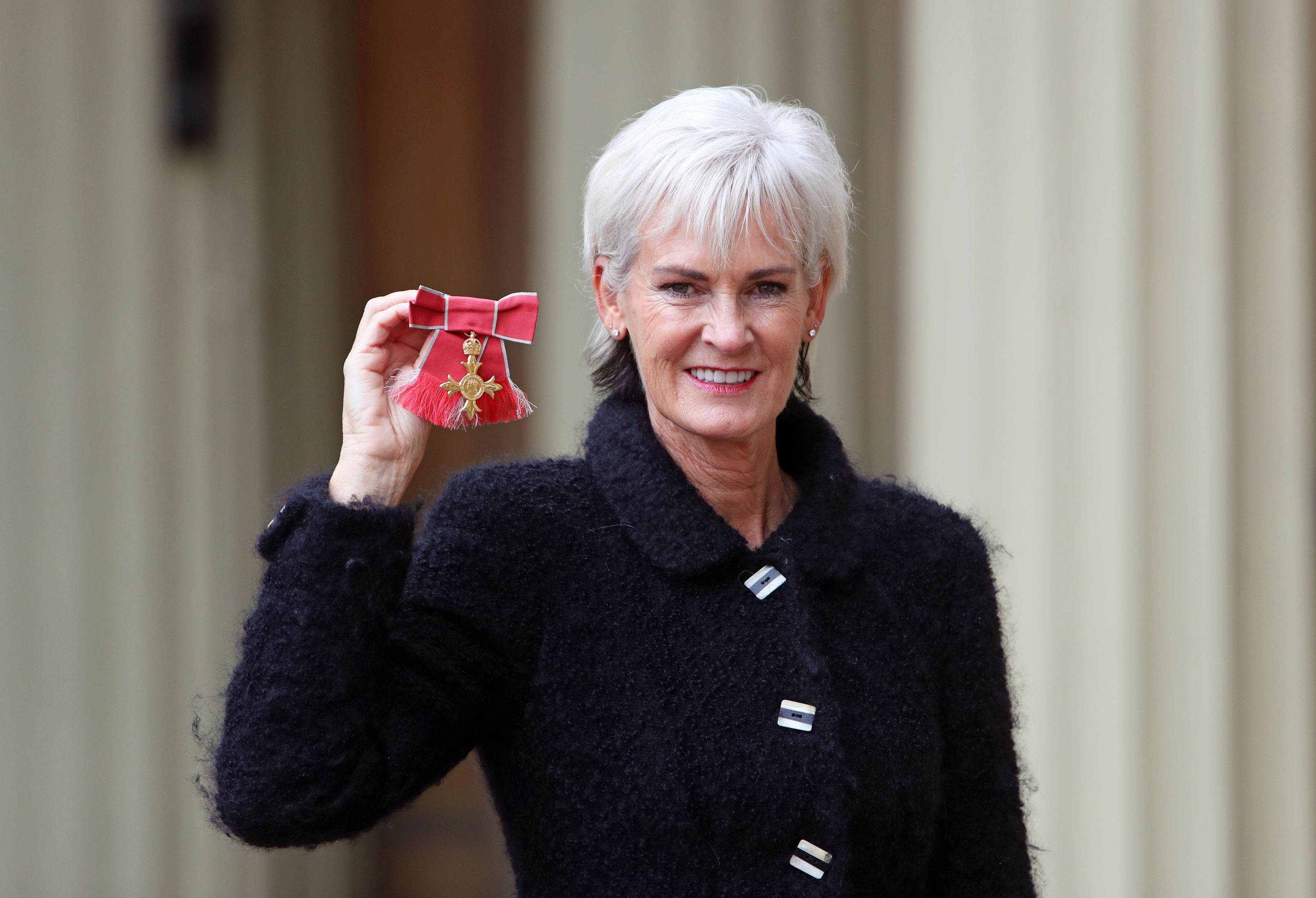 Judy Murray after she was awarded an OBE by the Duke of Cambridge (Steve Parsons/PA Wire)