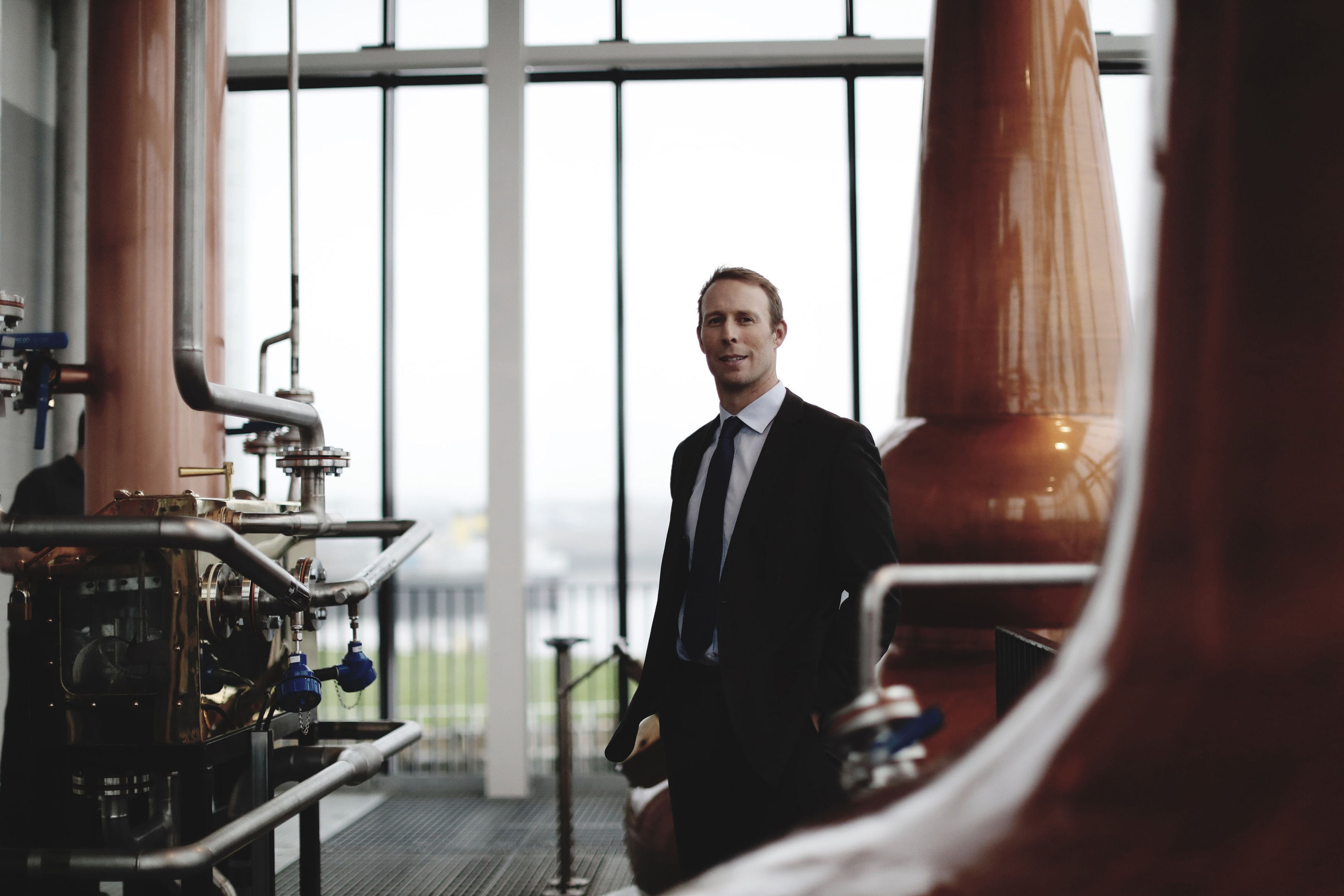 Commercial director Andrew Morrison, as the new distillery officially opens its doors to the public at the banks of the River Clyde. (Clydeside Distillery/PA Wire)