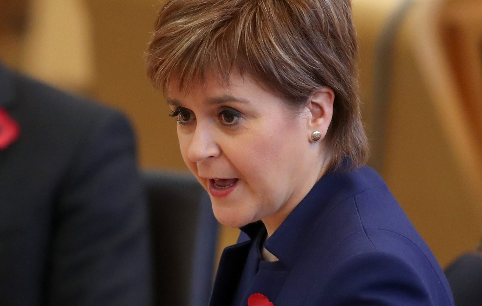 First Minister Nicola Sturgeon during First Minister's Questions (Jane Barlow/PA Wire)