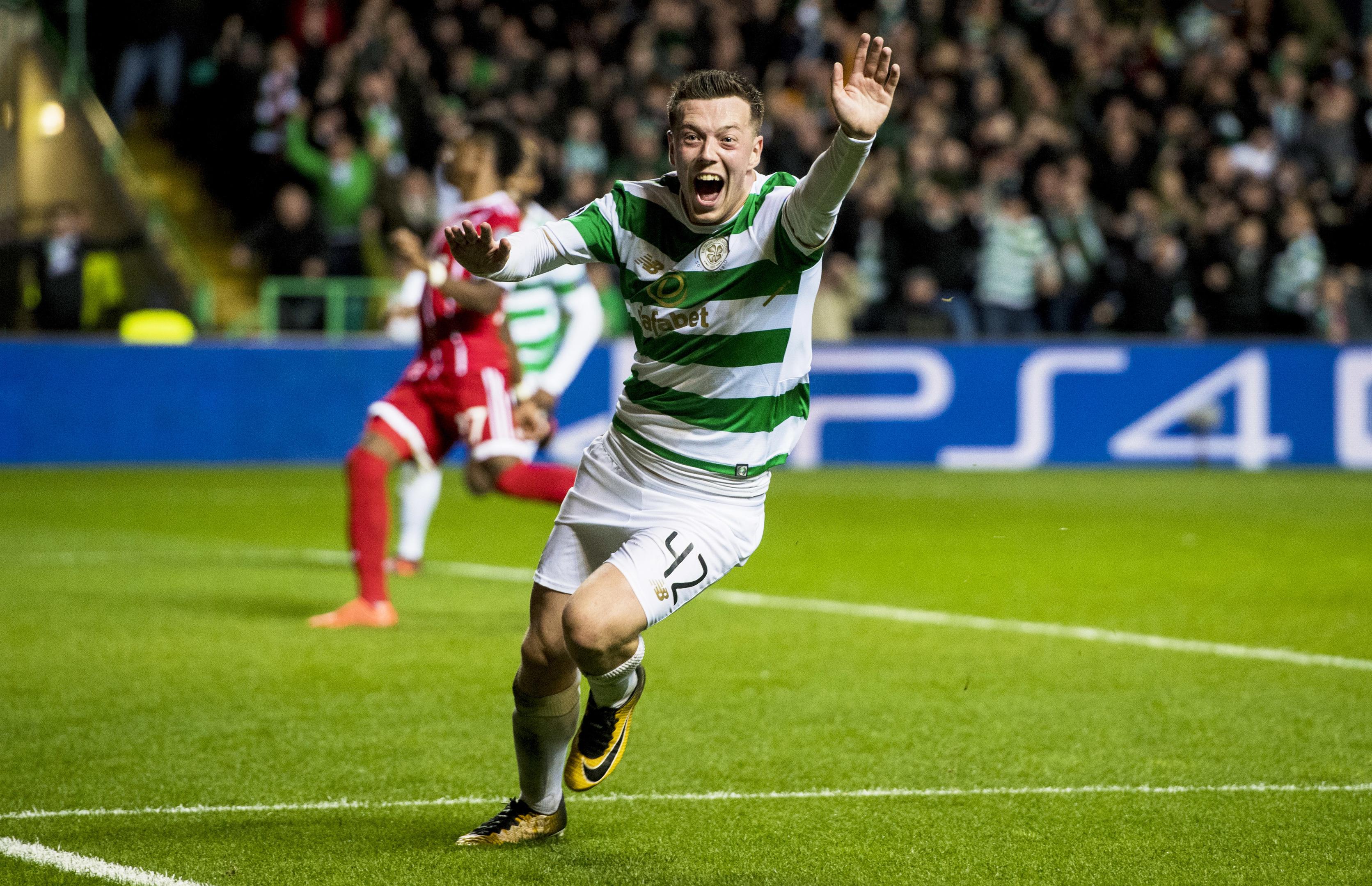 Celtic's Callum McGregor celebrates his goal (SNS)
