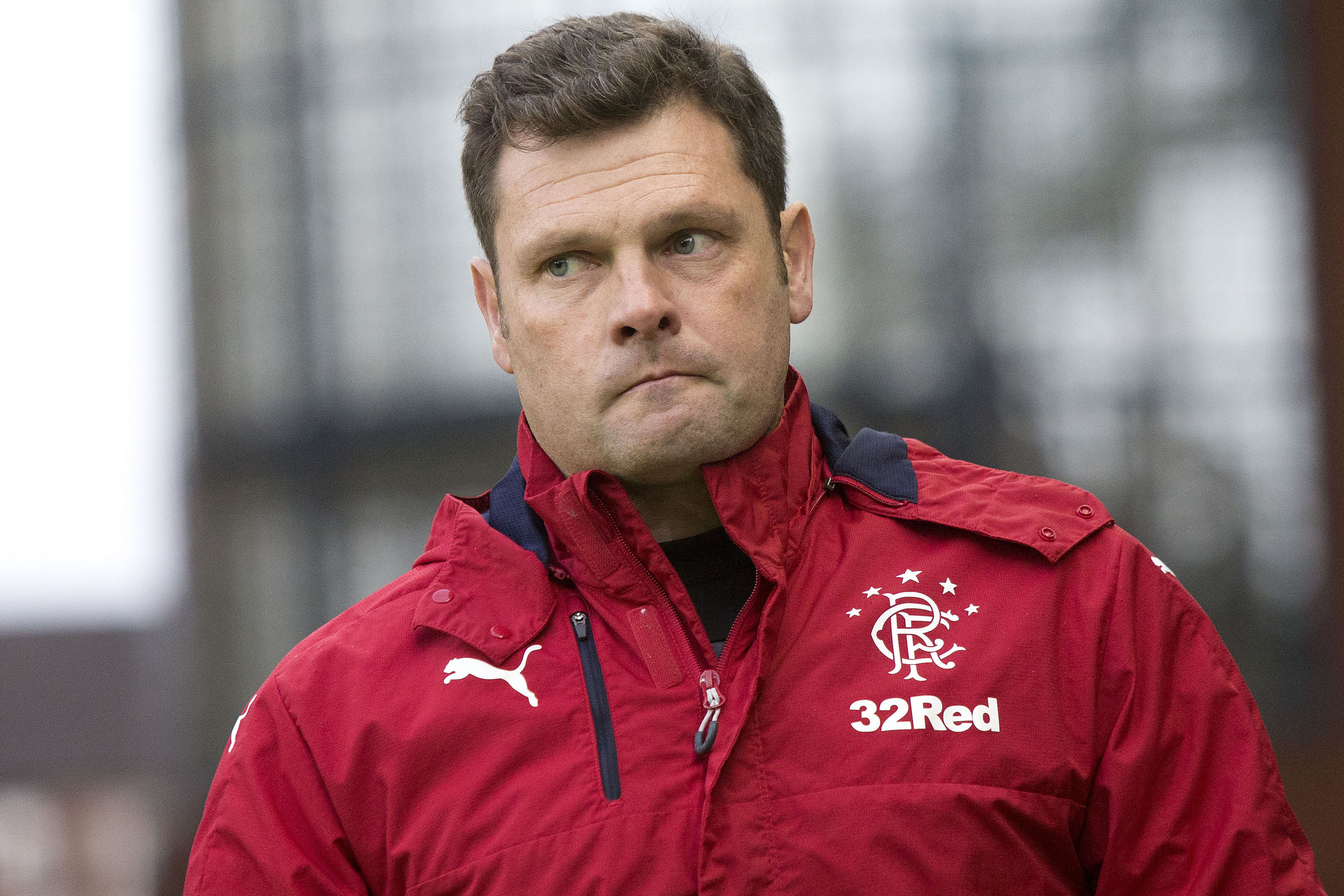 Rangers Interim Manager Graeme Murty during the Ladbrokes Scottish Premiership match at Ibrox Stadium, Glasgow.: (PA Wire)
