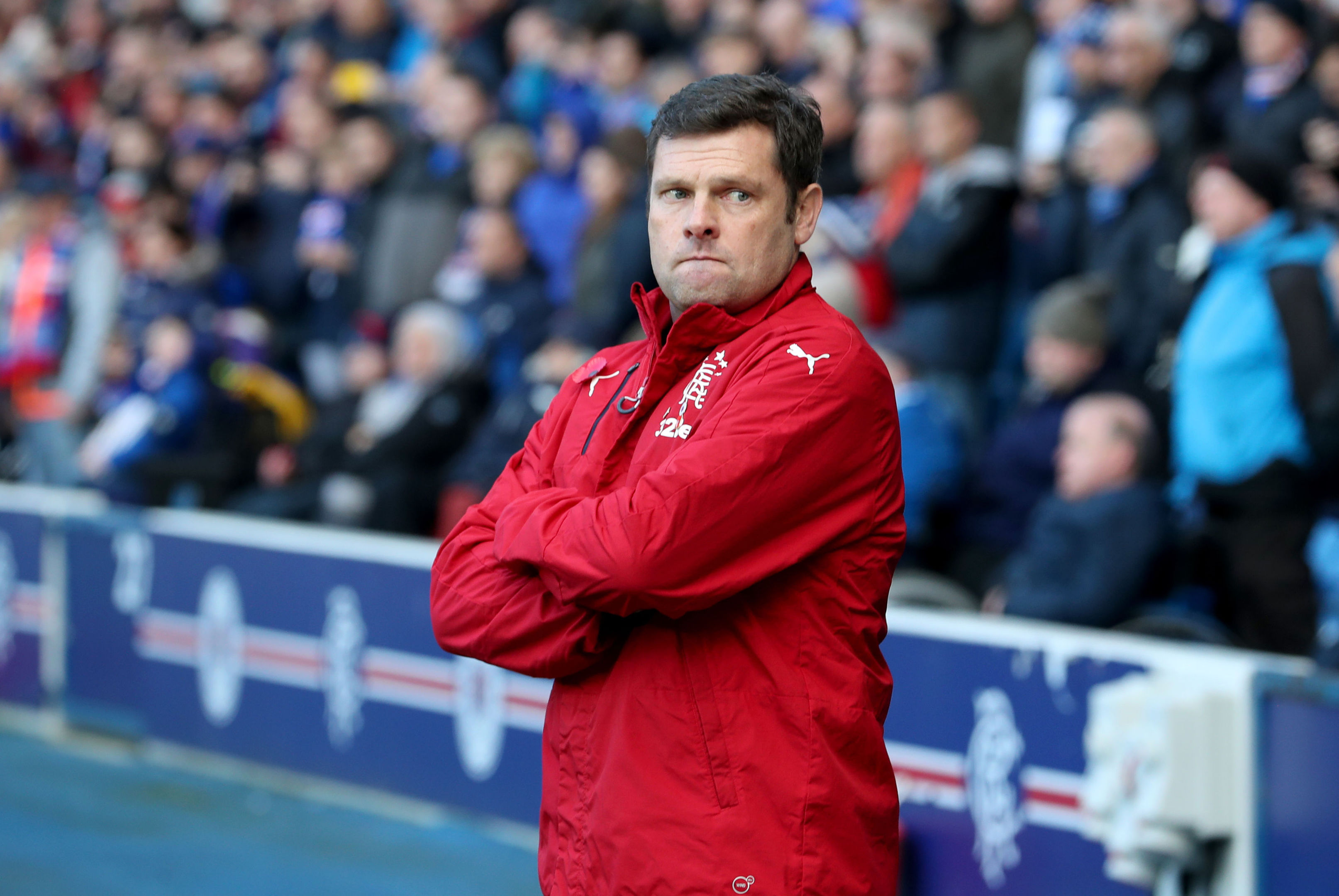 Rangers' interim manager Graeme Murty during the Ladbrokes Scottish Premiership match at the Ibrox Stadium, Glasgow. (Jane Barlow/PA Wire).