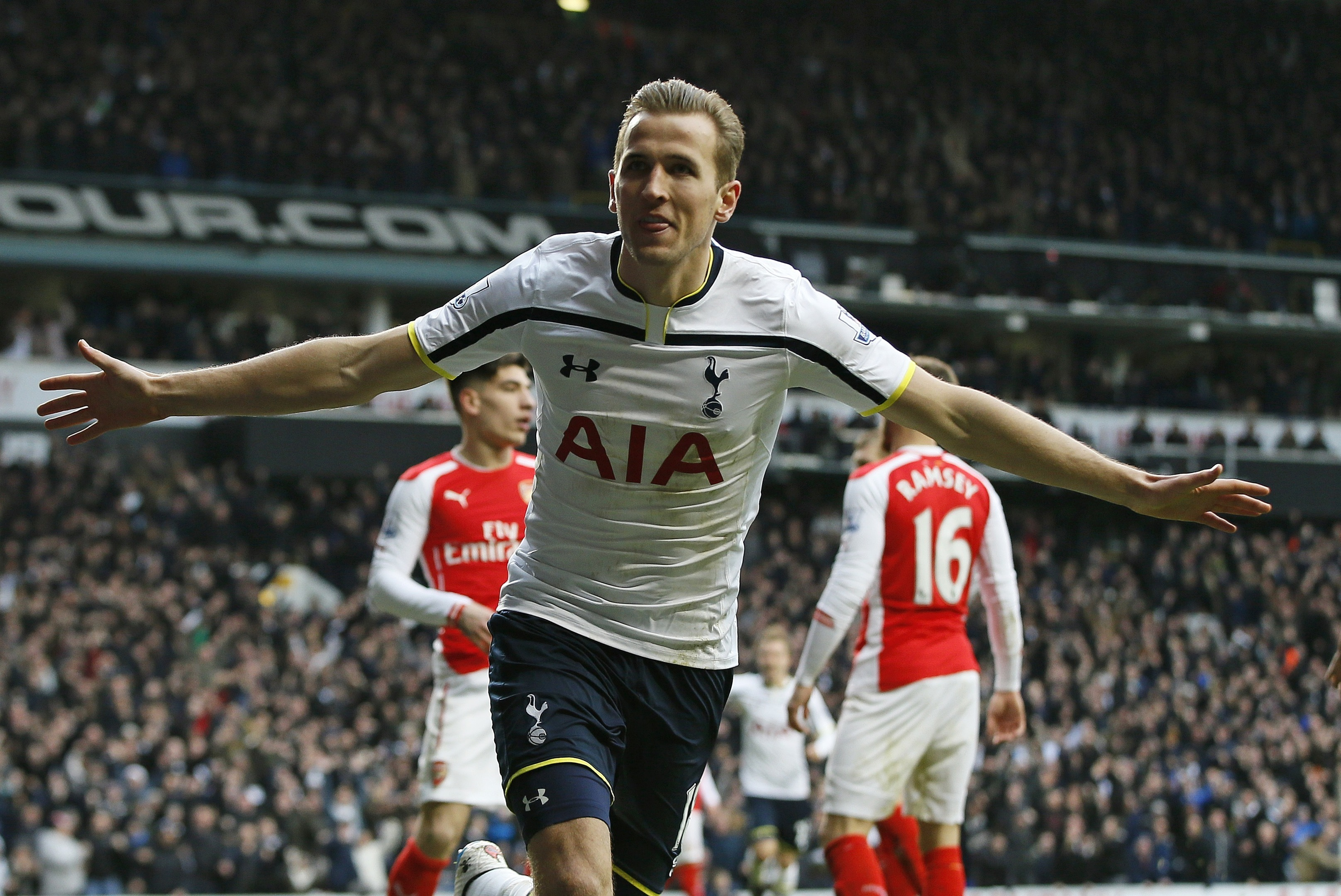 Arsenal must keep out Harry Kane tomorrow (AP Photo/Alastair Grant)