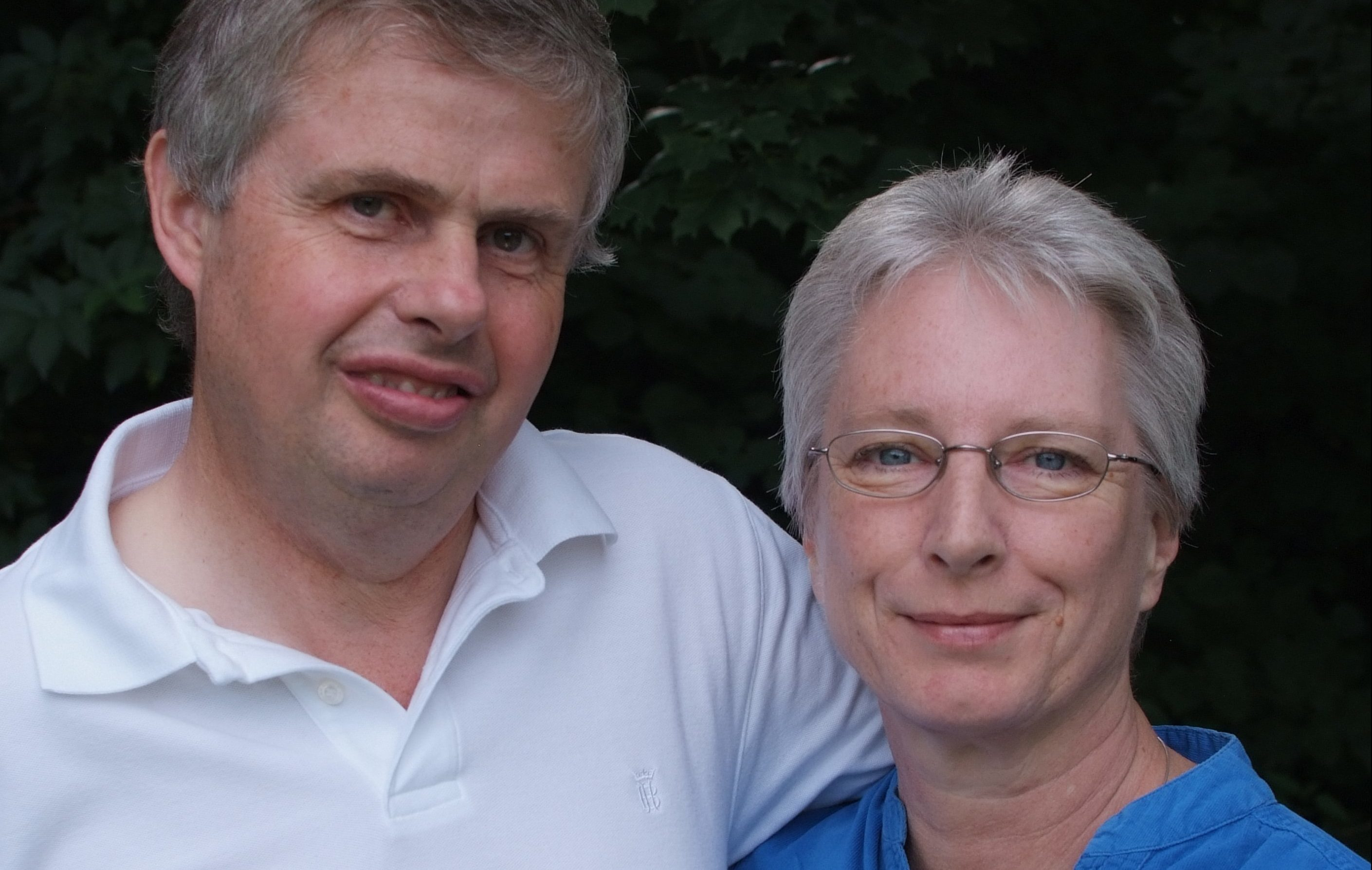 Sally, pictured with husband John, has survived more than six years after diagnosis.