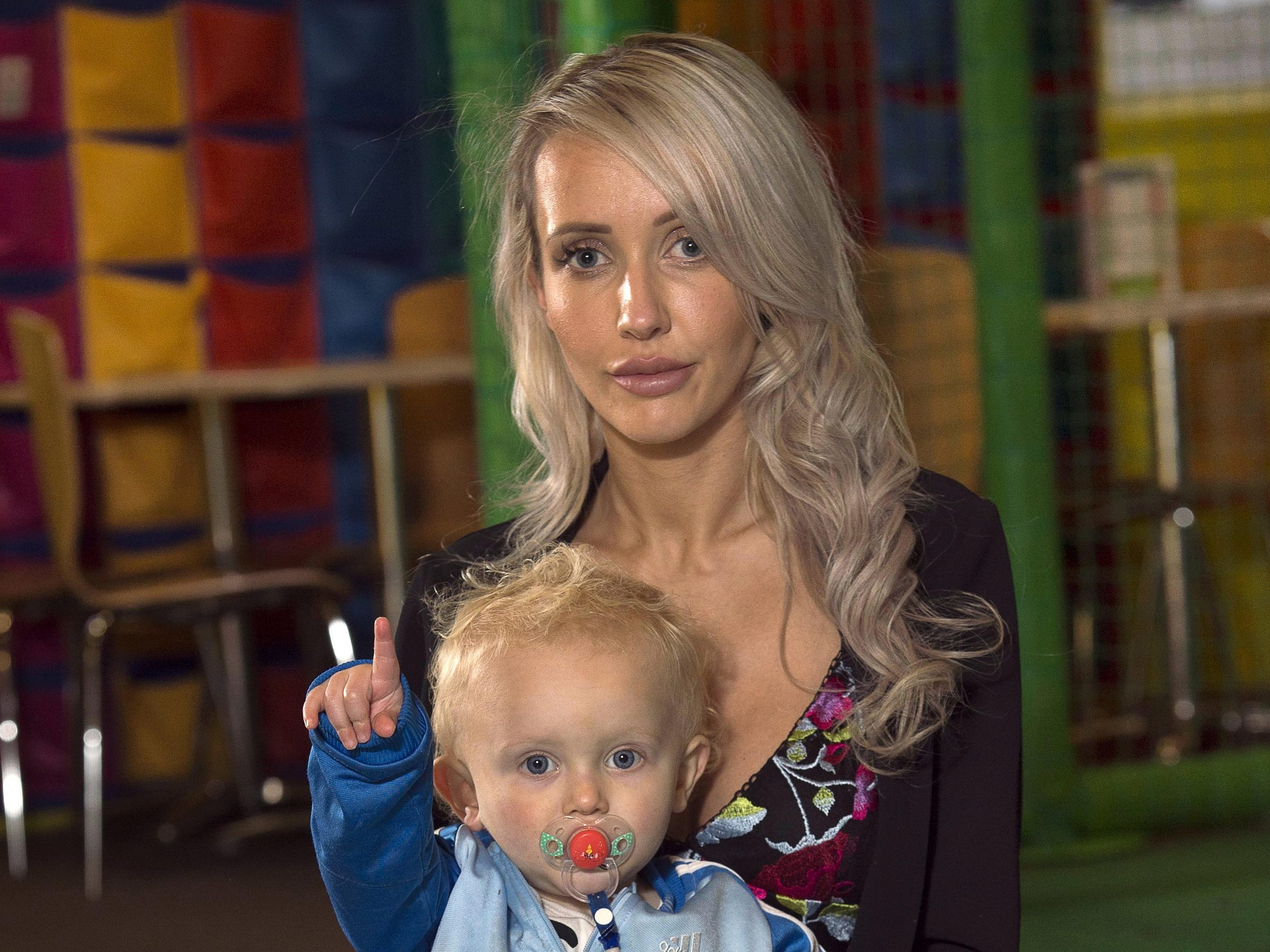Young mum Donna Matheson (28) with her 18 month old son Cruze (Trevor Martin)