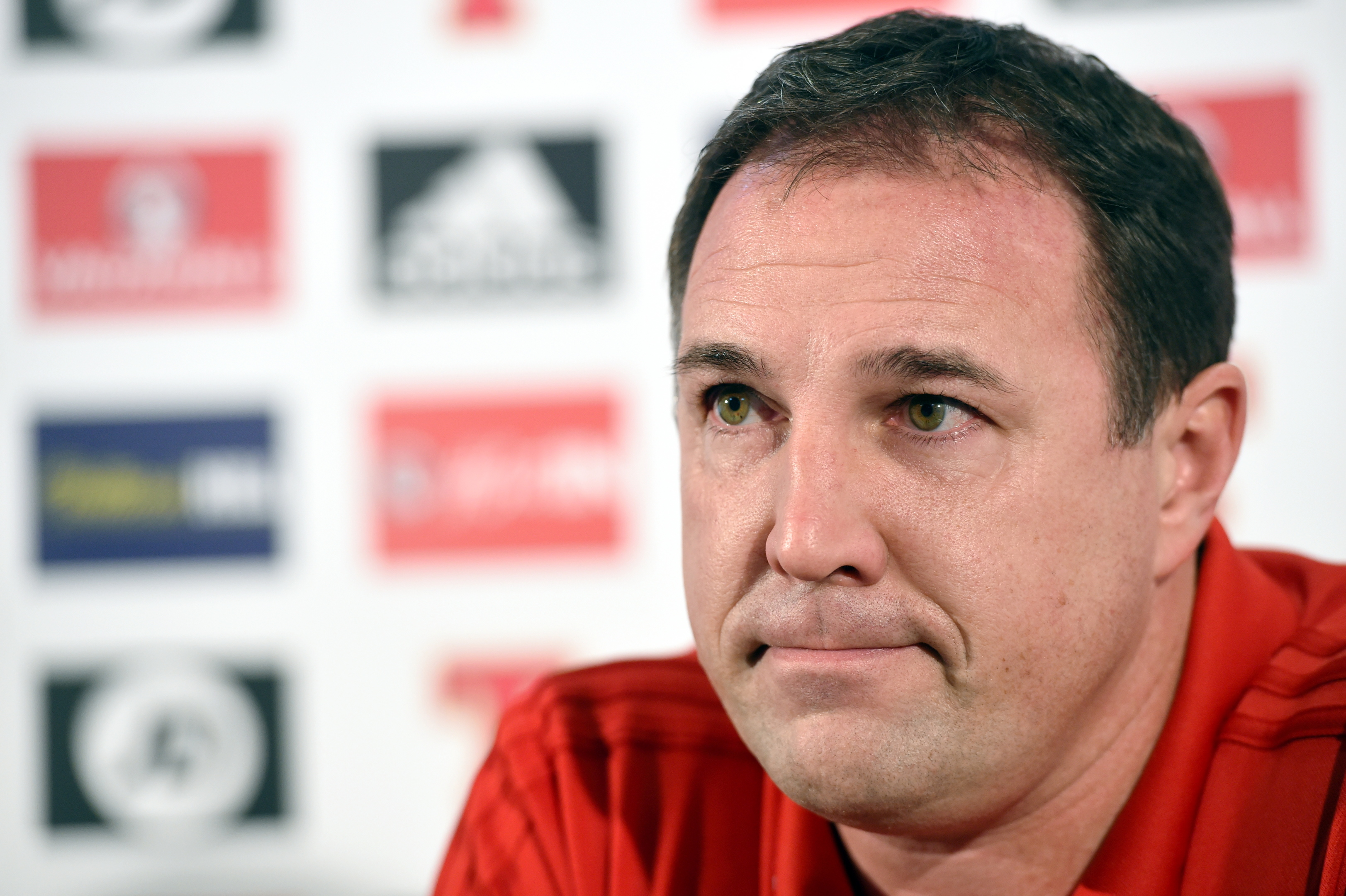Scotland interim manager Malky Mackay at Pittodrie Stadium (Darrell Benns / DC Thomson)