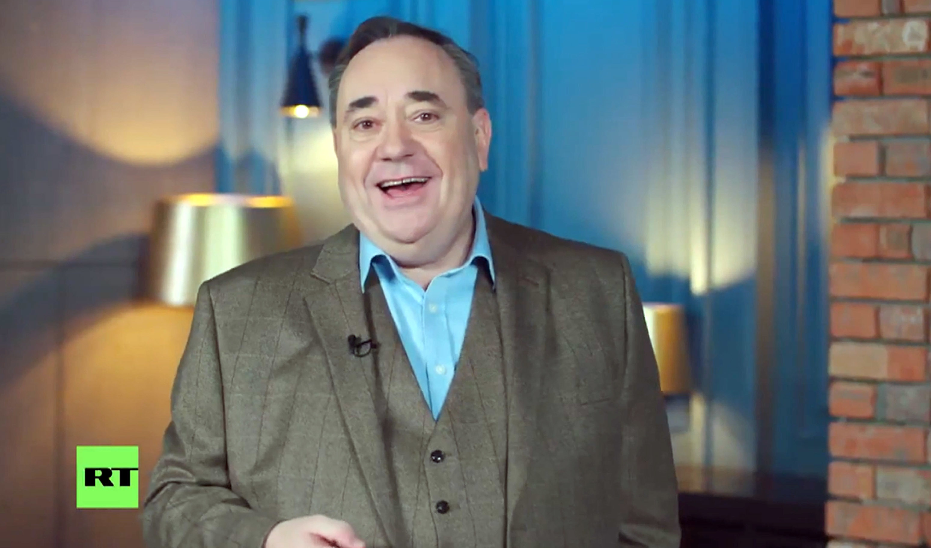 The Alex Salmond Show will be broadcast on RT - formerly known as Russia Today - every Thursday from next week. (RT/Universal News And sport (Europe)