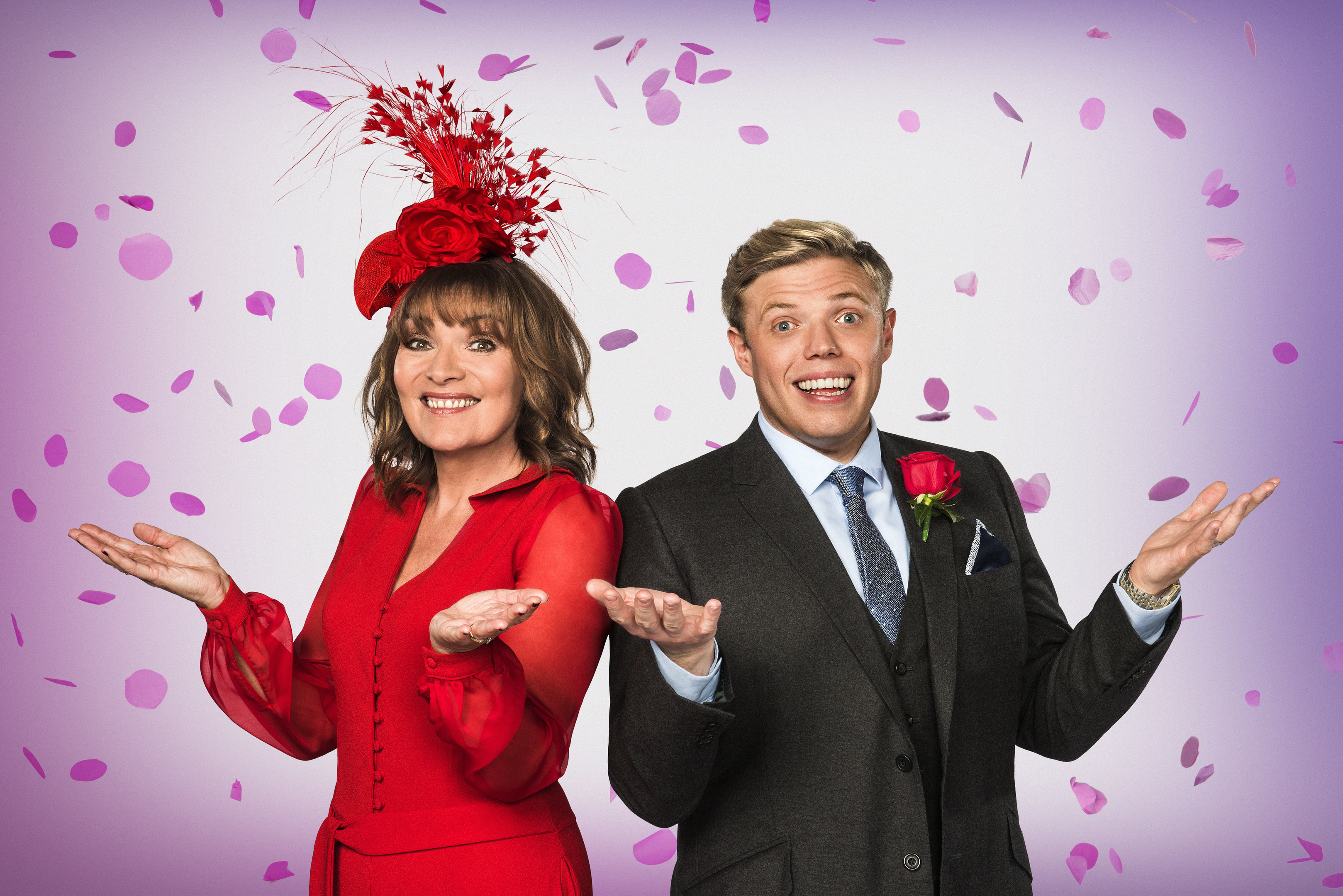 Lorraine Kelly and Rob Beckett will host Wedding Day Winners (Panda TV / Ray Burmiston)