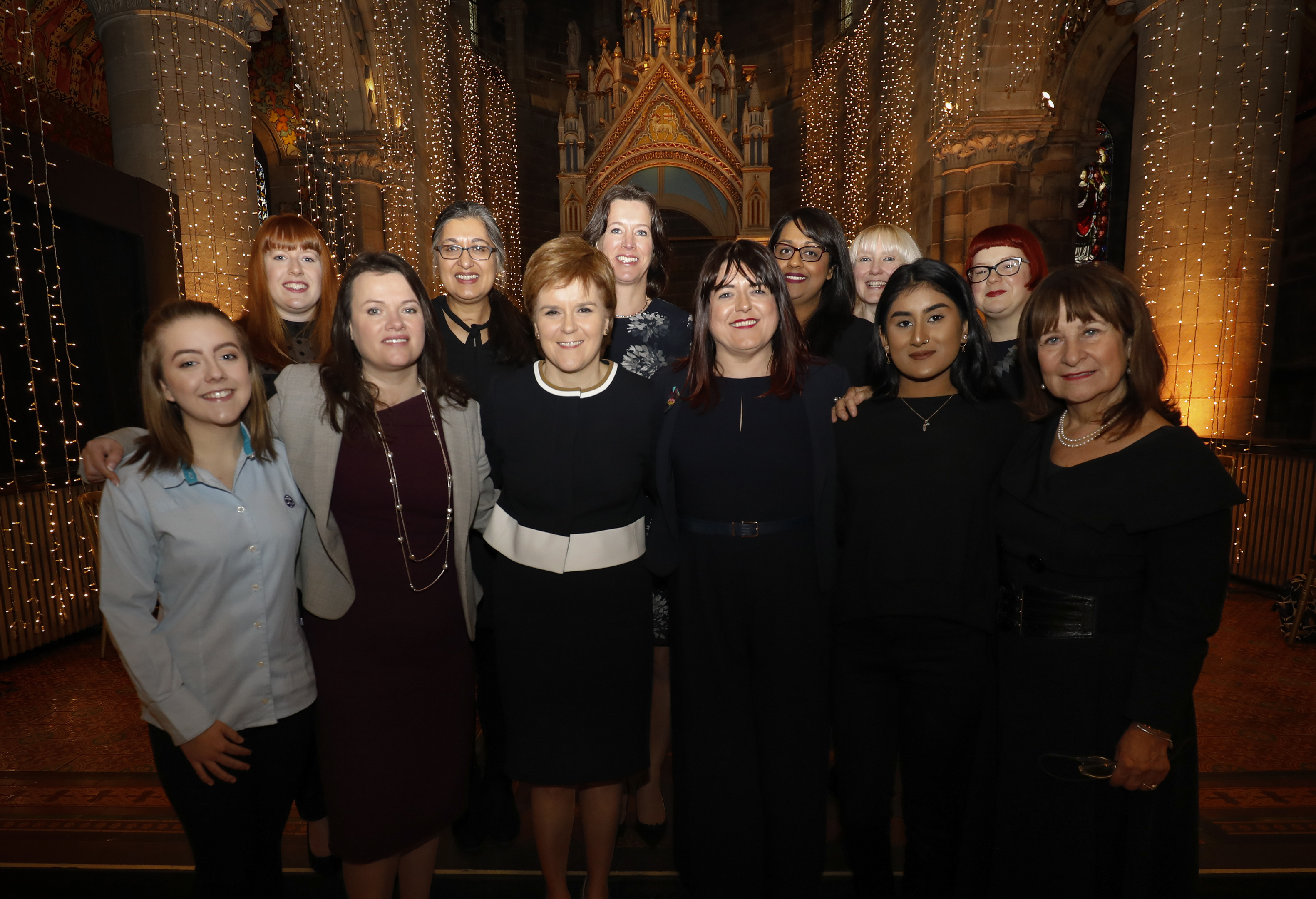 Nicola  Sturgeon with Advisory Council for Women and Girls (Scottish Government)