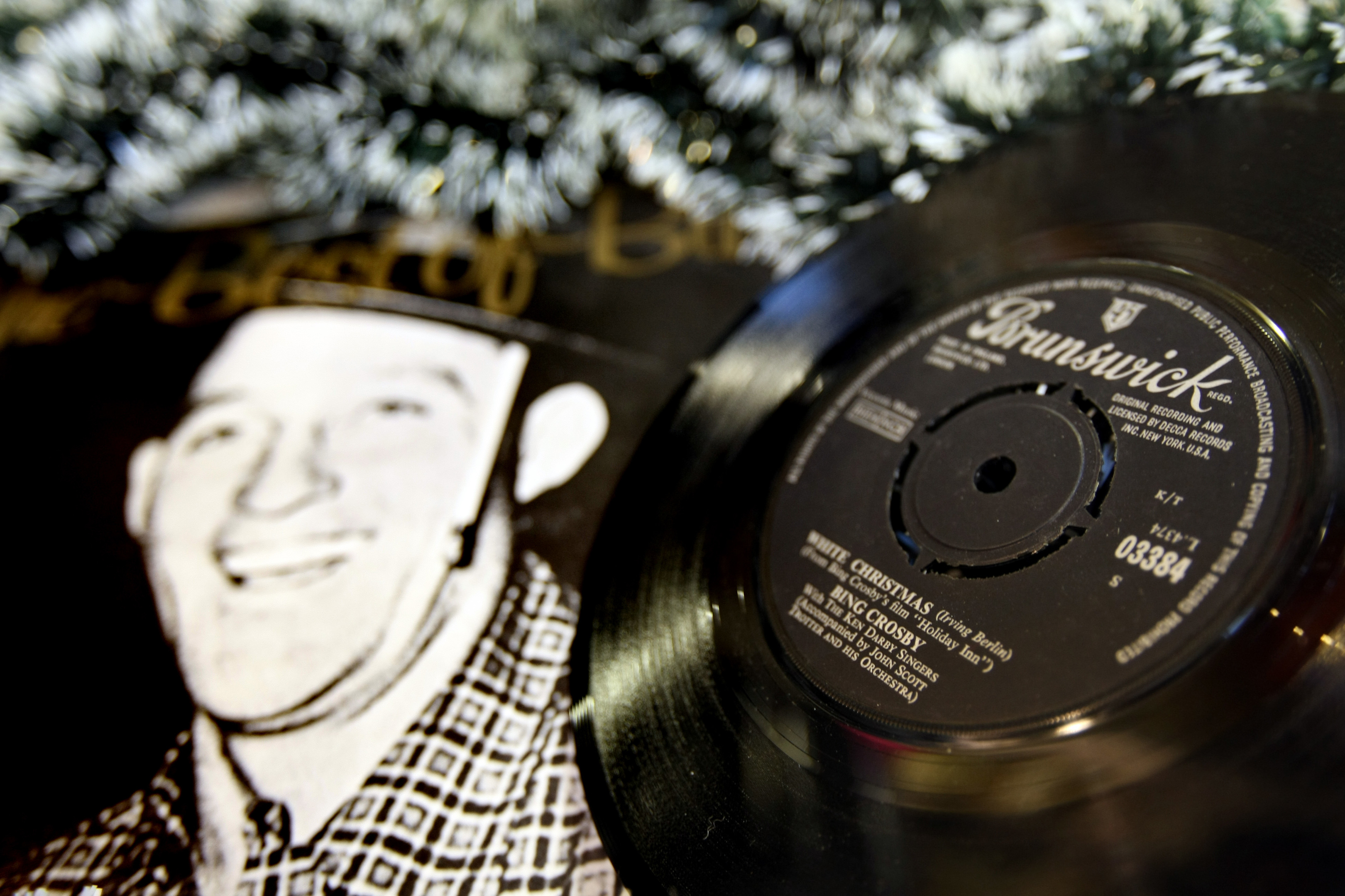 Bing Crosby, White Christmas on vinyl (Kris Miller / DC Thomson)