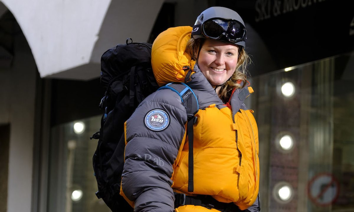 Mollie Hughes, 26, the youngest woman to reach the summit of Mount Everest from both sides (The Polar Academy and Tiso Group/PA Wire)