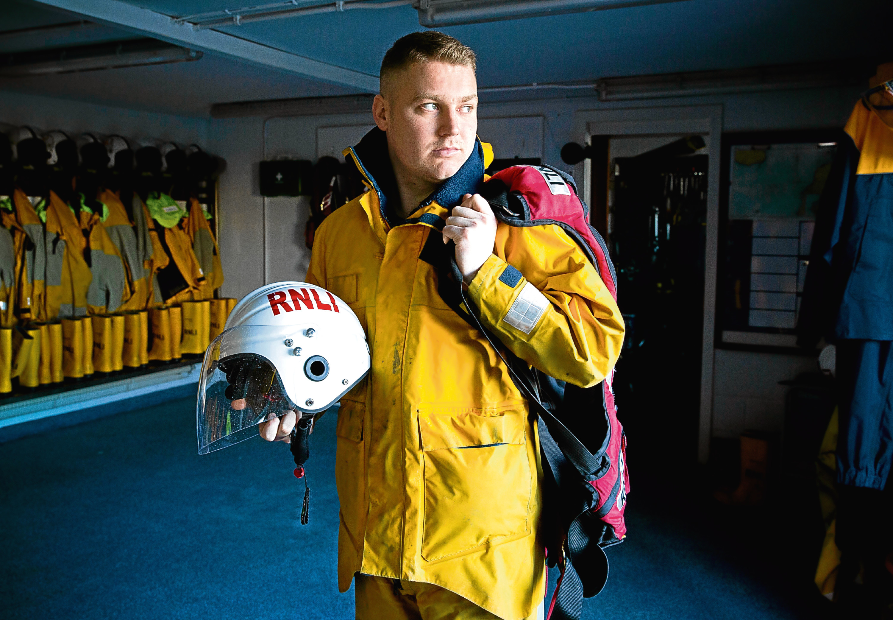 Callum Govus Girvan RNLI Coxswain was inspired to join the RNLI by a former teacher who was 2nd Coxswain at Girvan Davie butcher (Jamie Williamson)