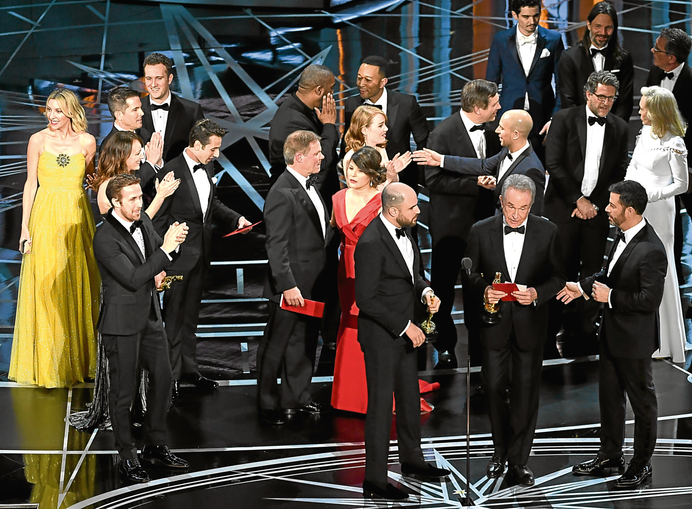 Onstage during the 89th Annual Academy Awards (Getty Images)