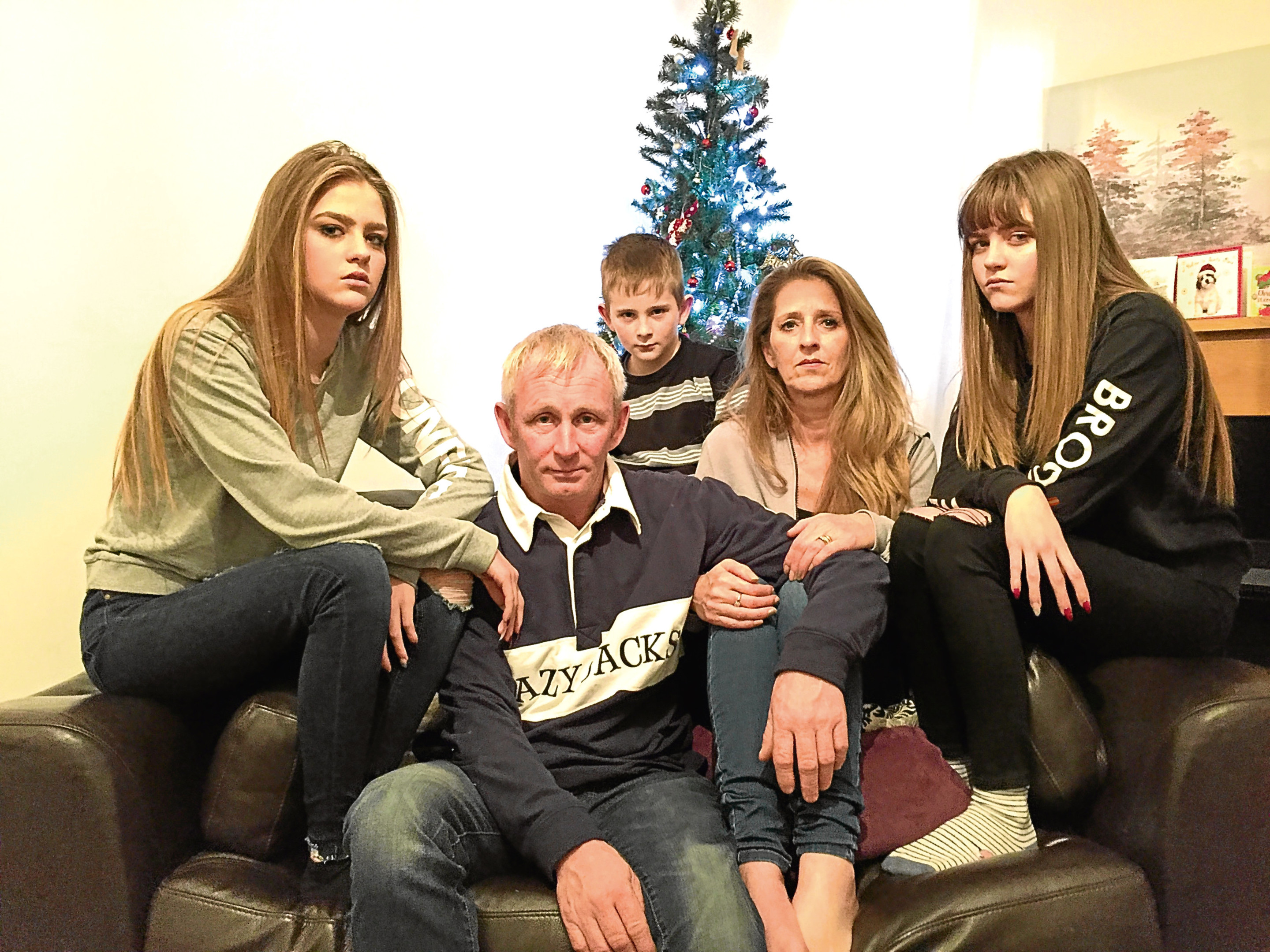 Joe Whitelaw and his family, who had their Christmas Day ruined by The Outside Inn restaurant (Andrew Cawley / DC Thomson)