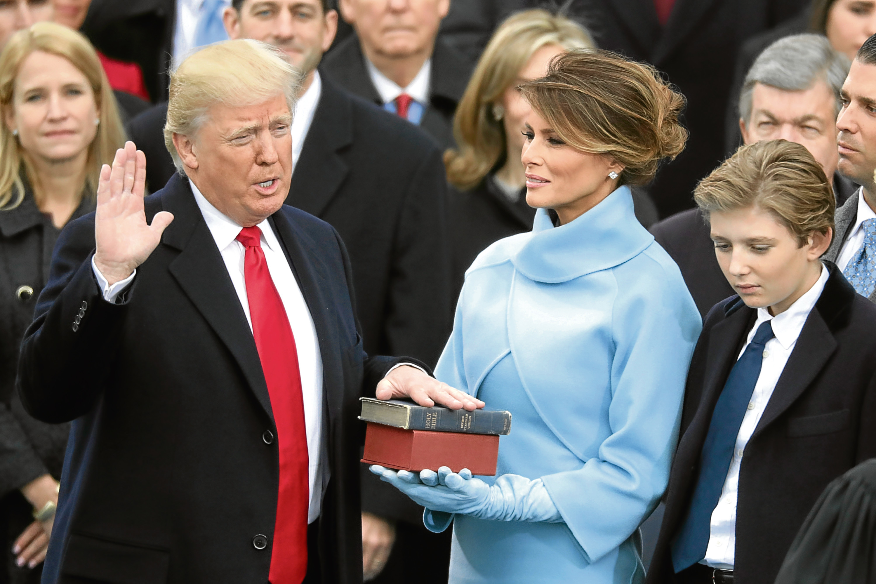 U.S. President Donald Trump takes the oath of office (Chip Somodevilla/Getty Images)