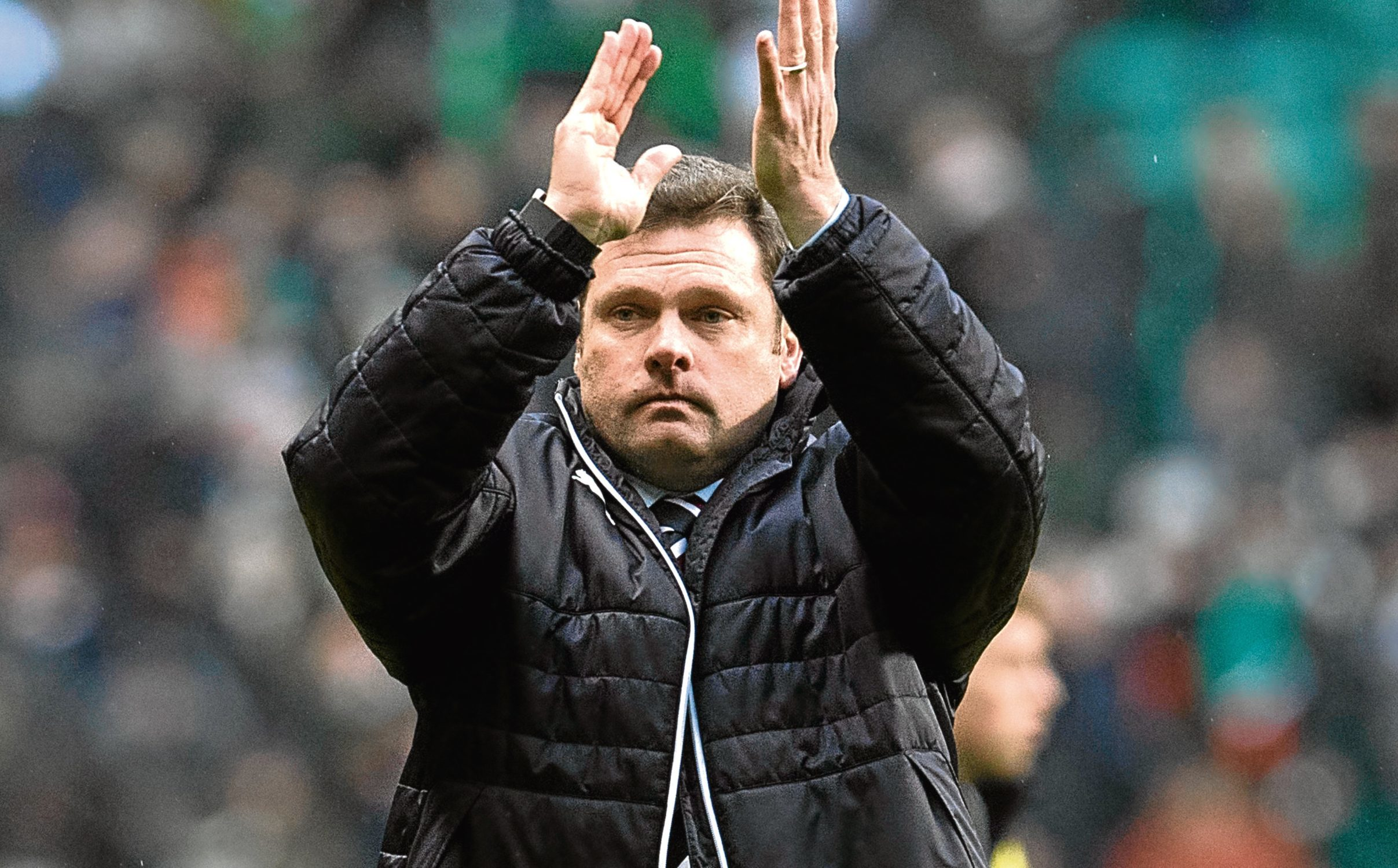 Rangers manager Graeme Murty at full-time (SNS Group)