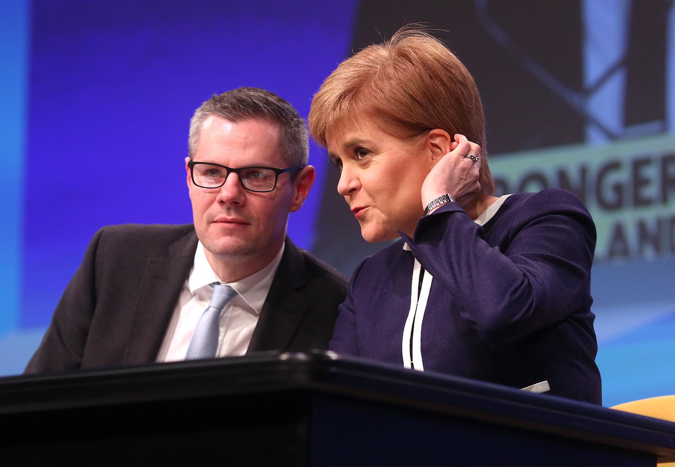Finance Secretary Derek Mackay MSP with Nicola Sturgeon (Allan Milligan)