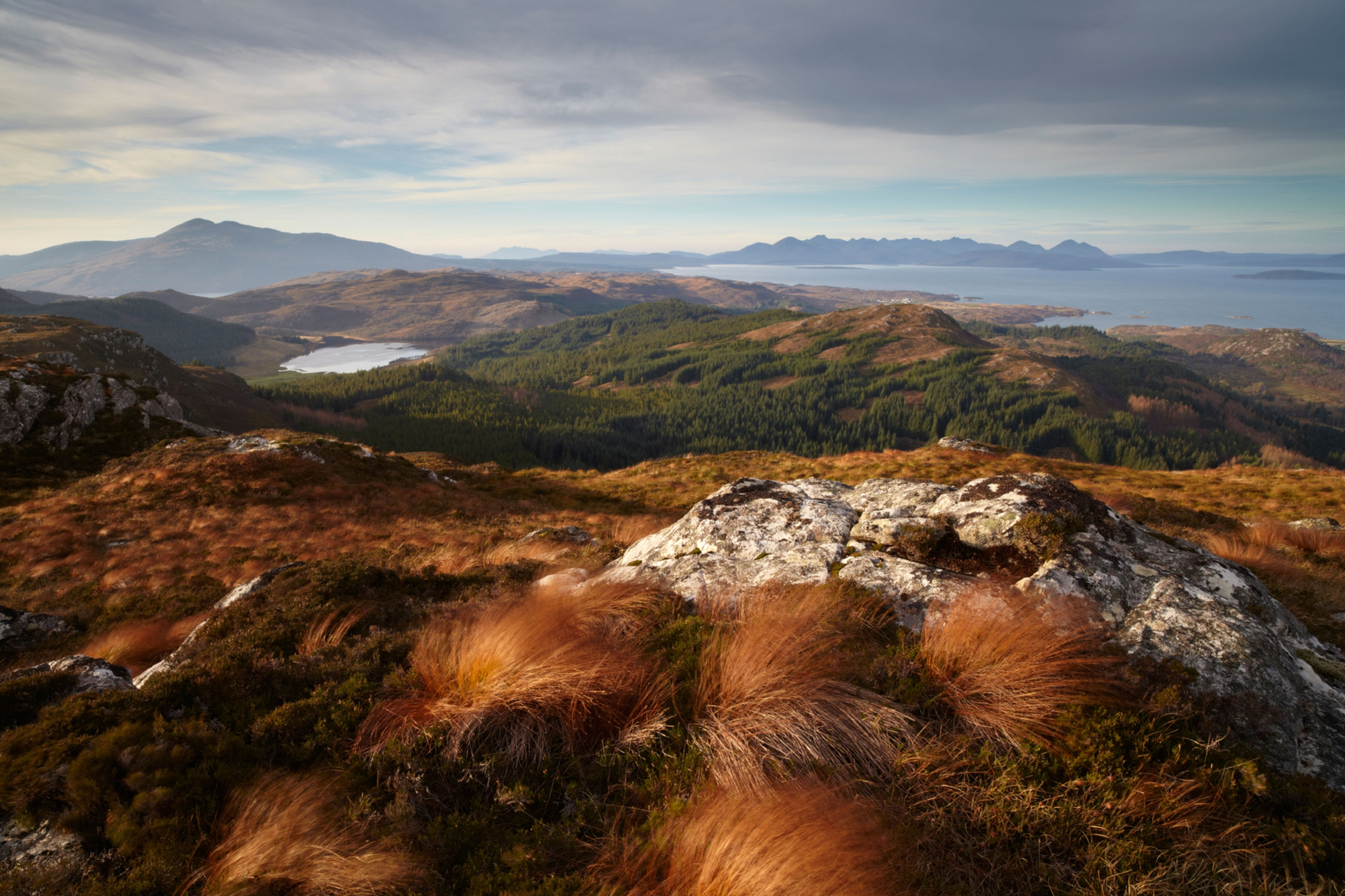 View towards the Isle of Skye from Plockton Crags.