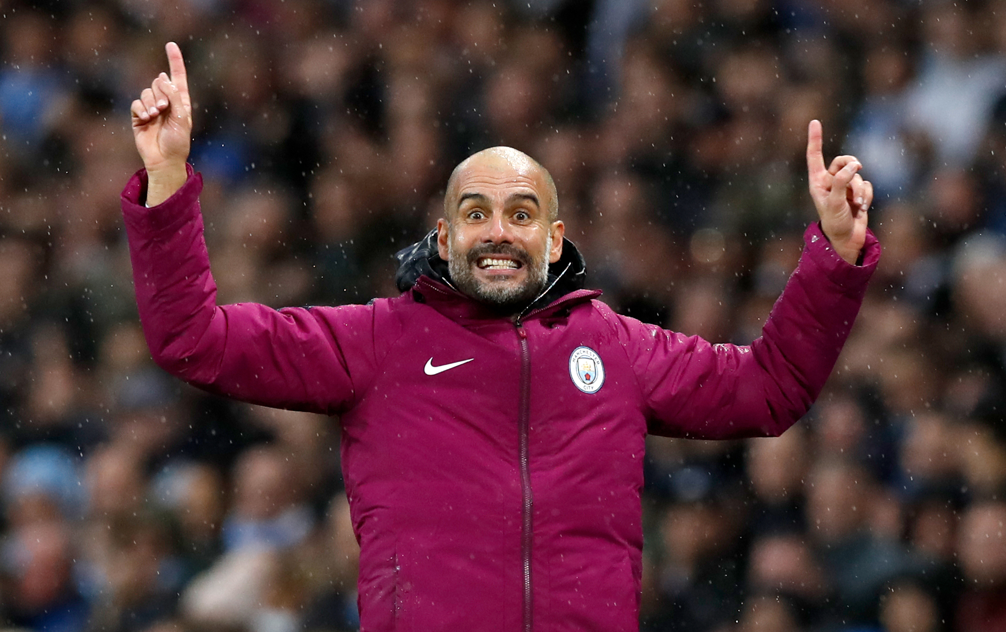 Manchester City manager Pep Guardiola (PA)