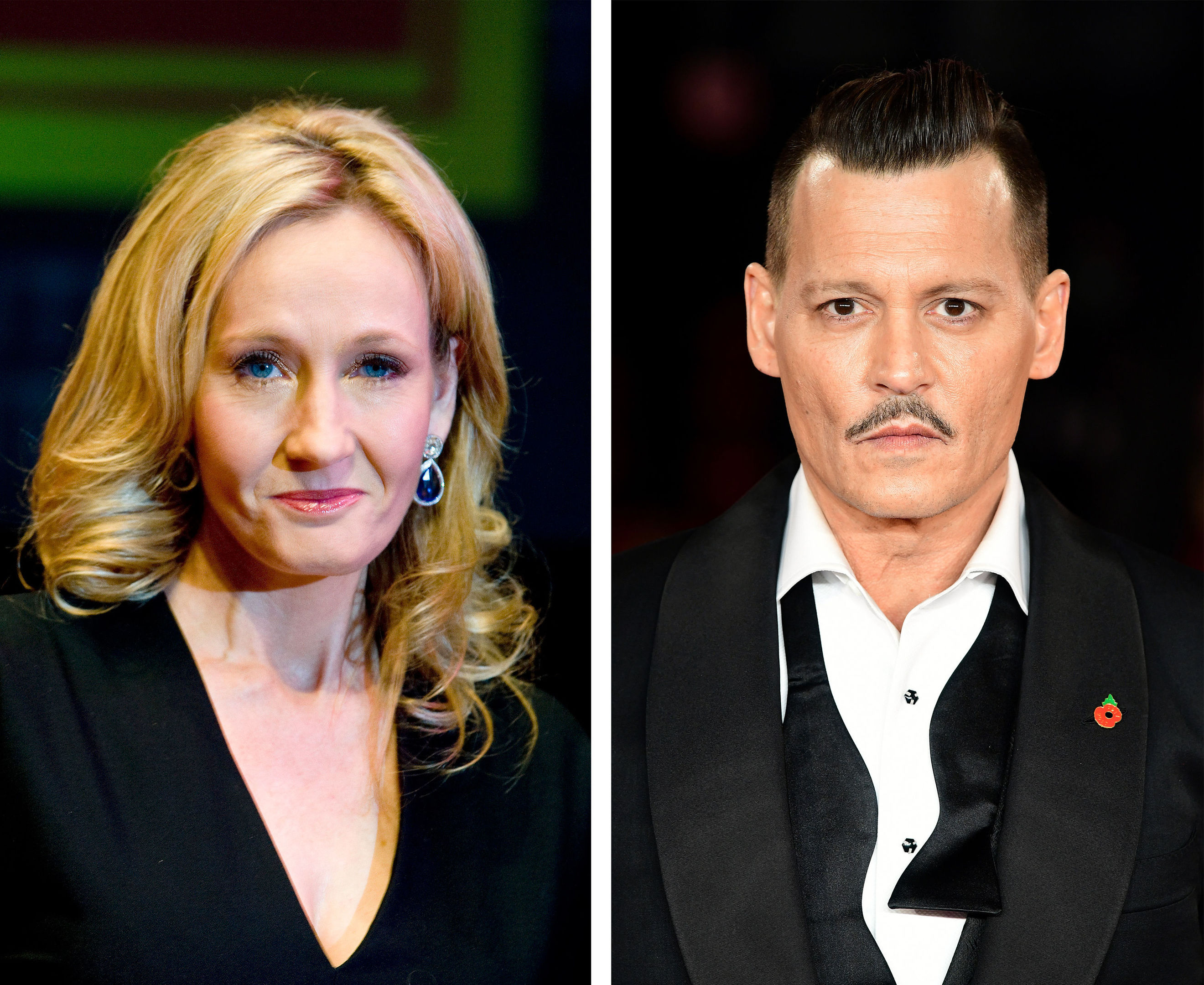 JK Rowling and Johnny Depp, the Harry Potter writer has defended her decision to keep him in the role of Grindelwald for the Fantastic Beasts And Where To Find Them sequel. (PA Wire)