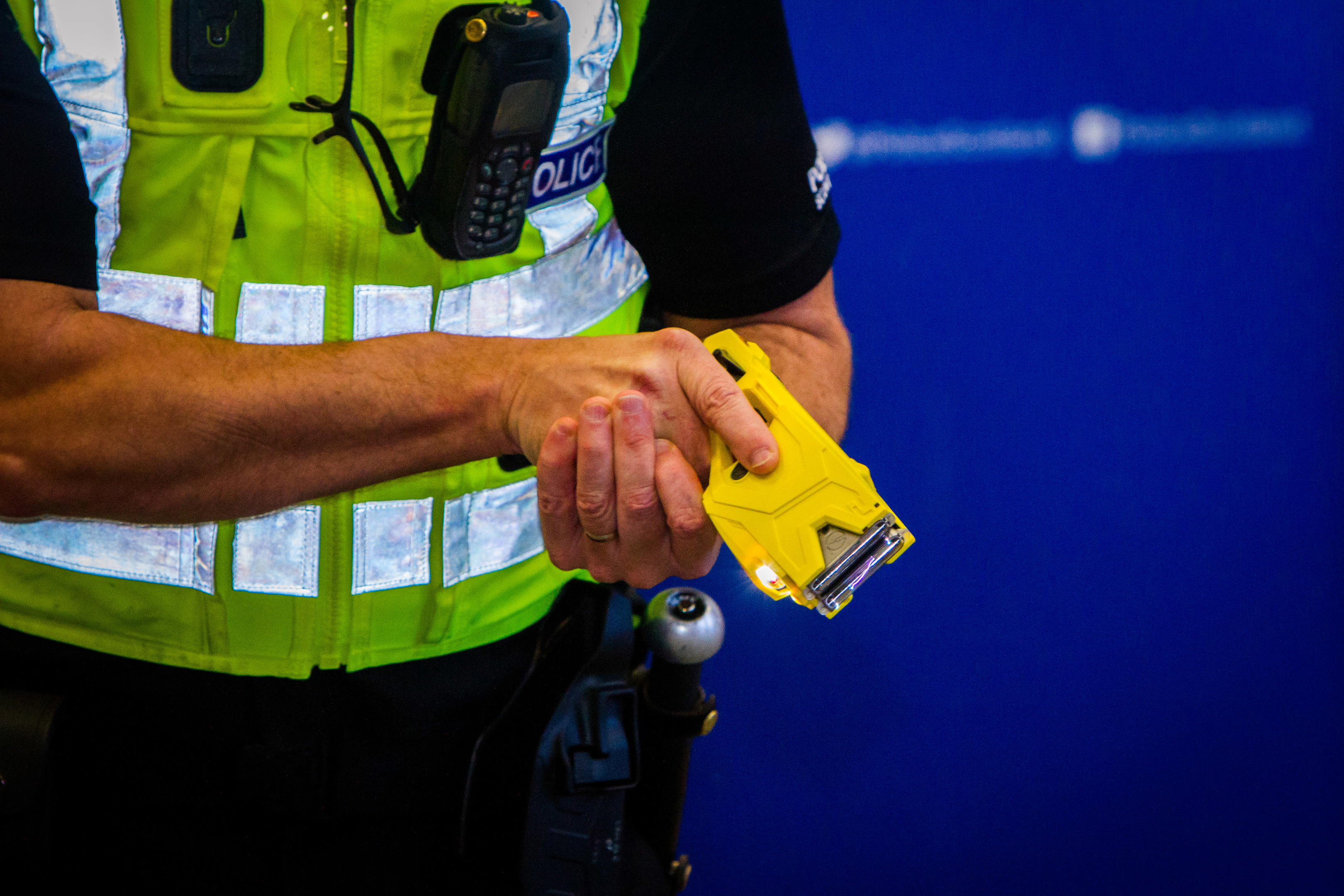 A police officer with a taser (Steve MacDougall / DC Thomson)