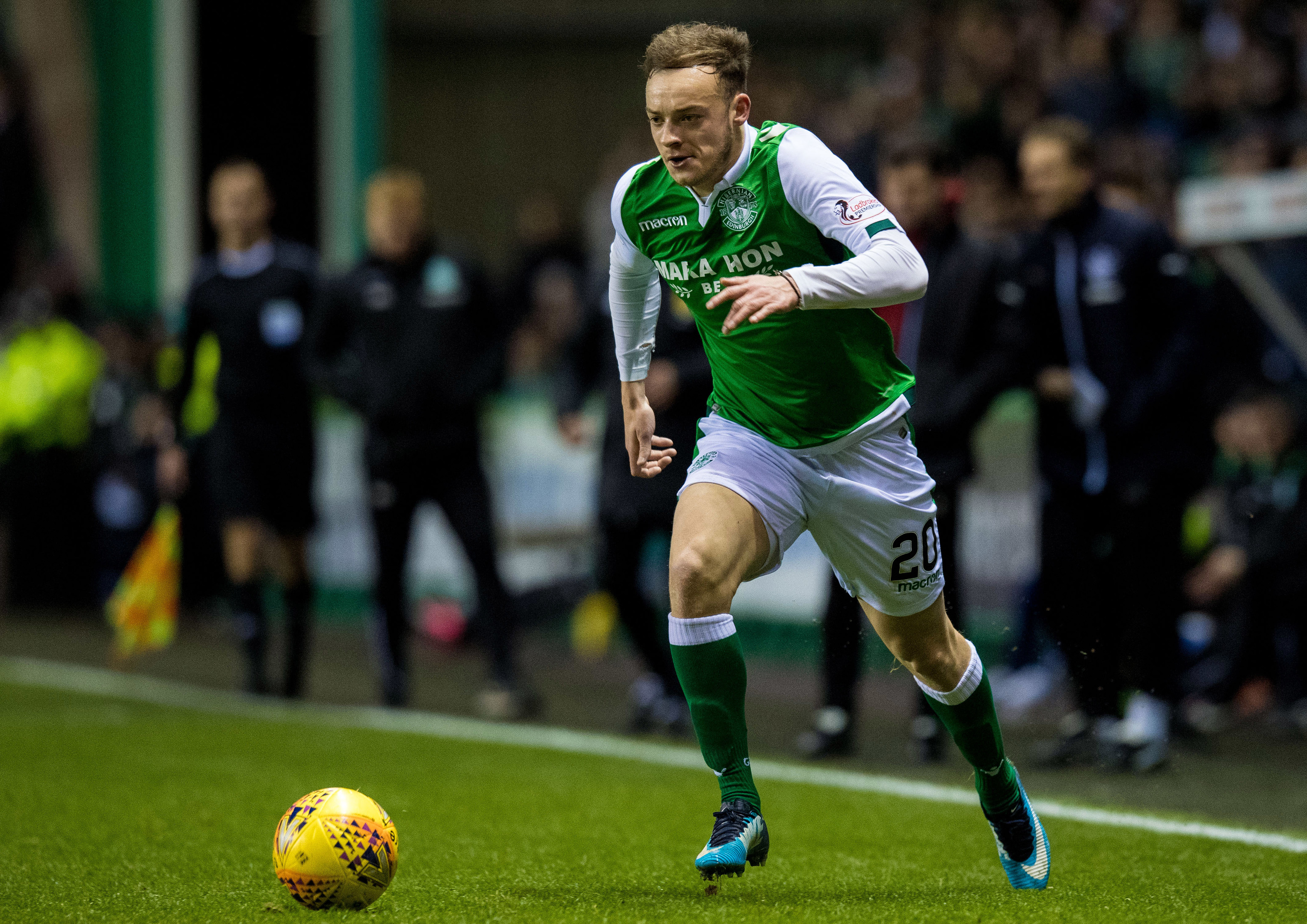 Brandon Barker in action for Hibernian (SNS)