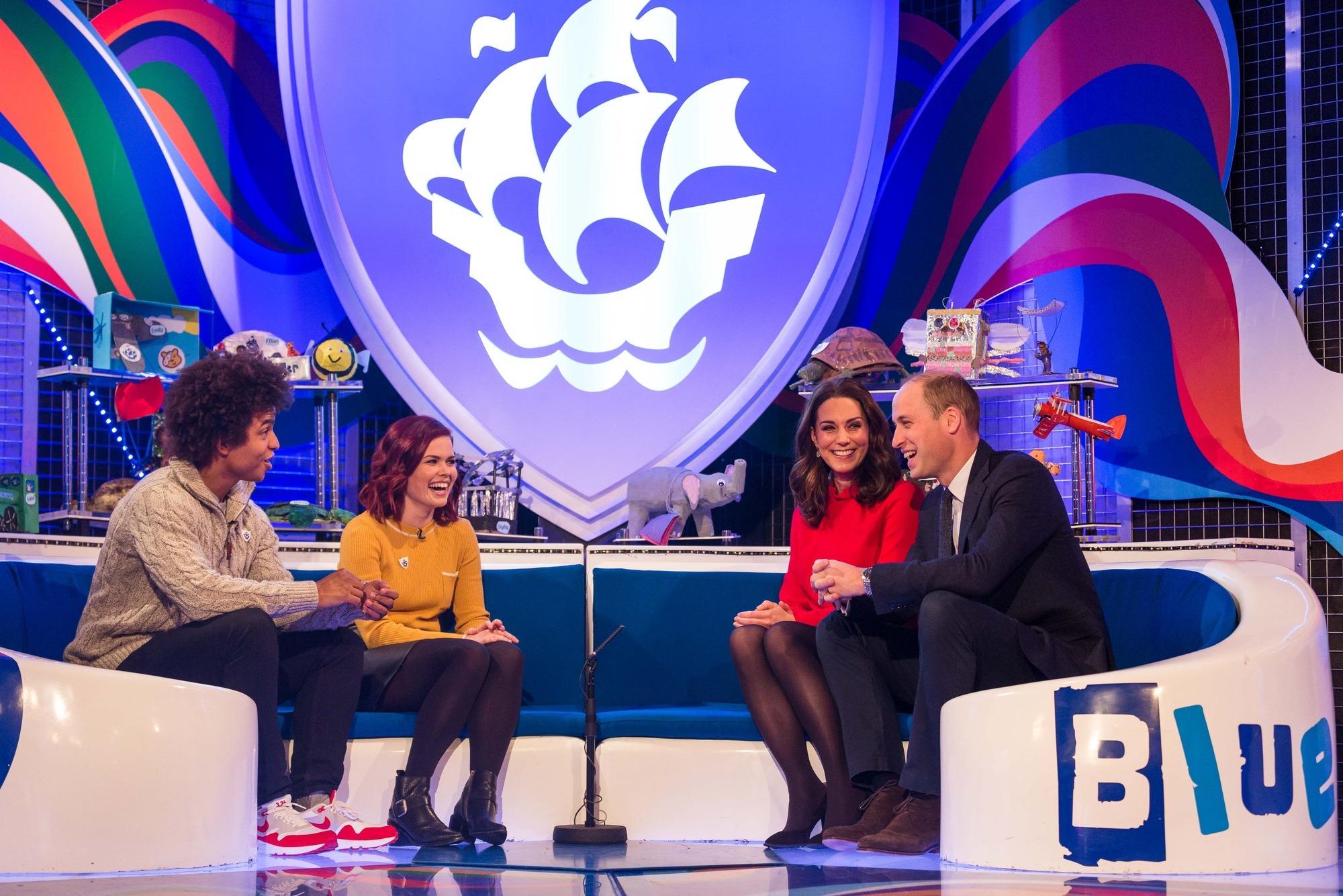 The Duke and Duchess of Cambridge visit Blue Peter (Dan Vernon/BBC/PA)