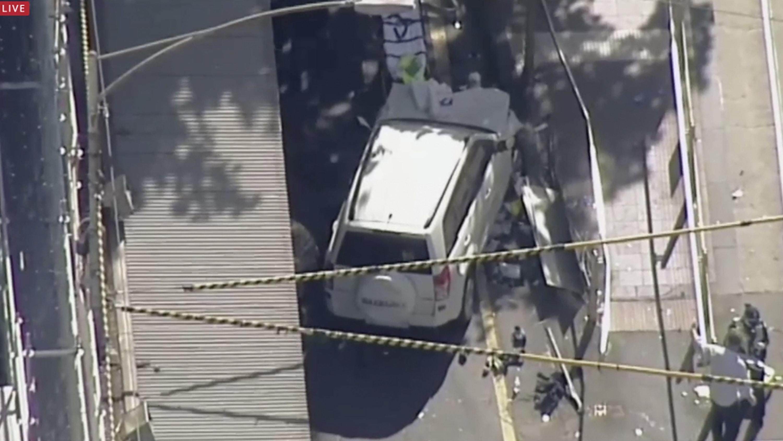 The scene in Melbourne (Australian Broadcast Corp via AP)