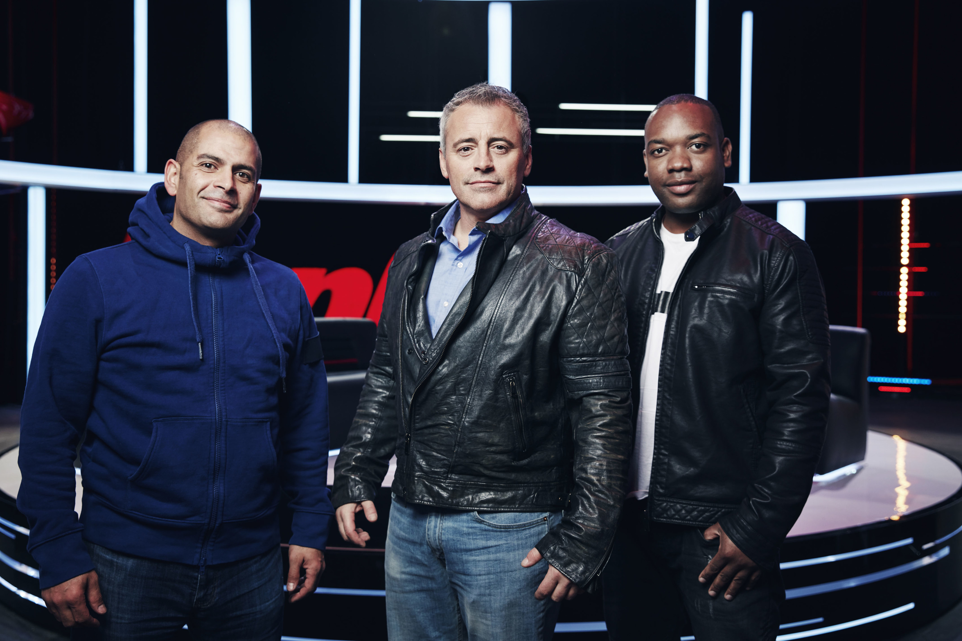 Top Gear presenters Rory Reid, Matt LeBlanc and Chris Harris (BBC WorldWide / Tom Barnes)
