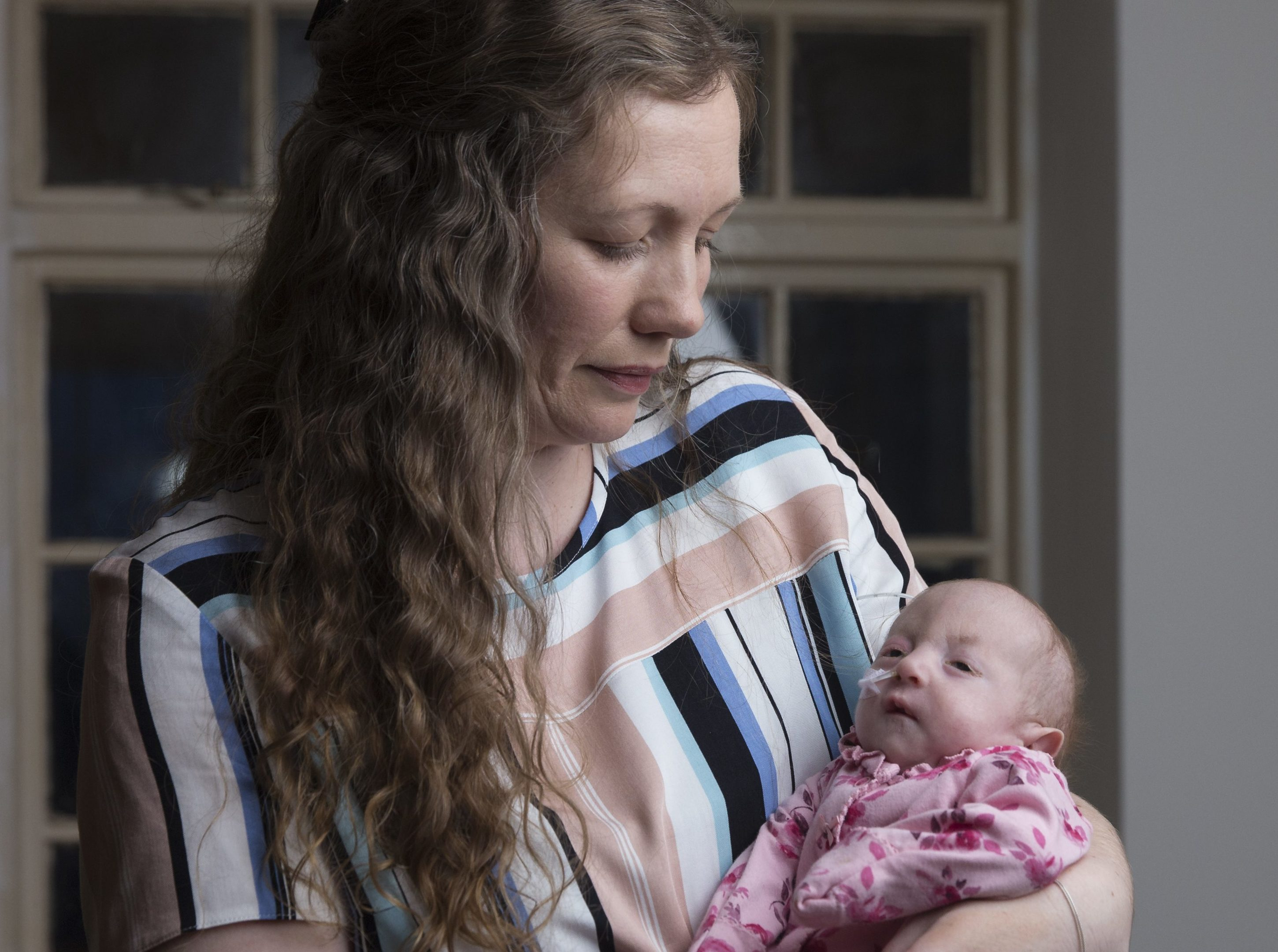 Gina Scanlan with baby Willow (Ross Johnston/Newsline Media)