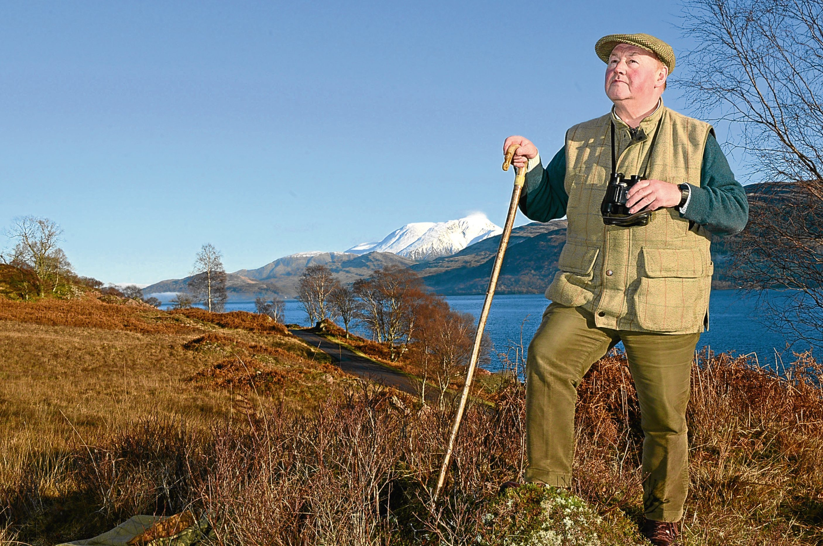 Iain Thorber in the hills around his home, which he regularly climbs. (Iain Ferguson, The Wright Image)