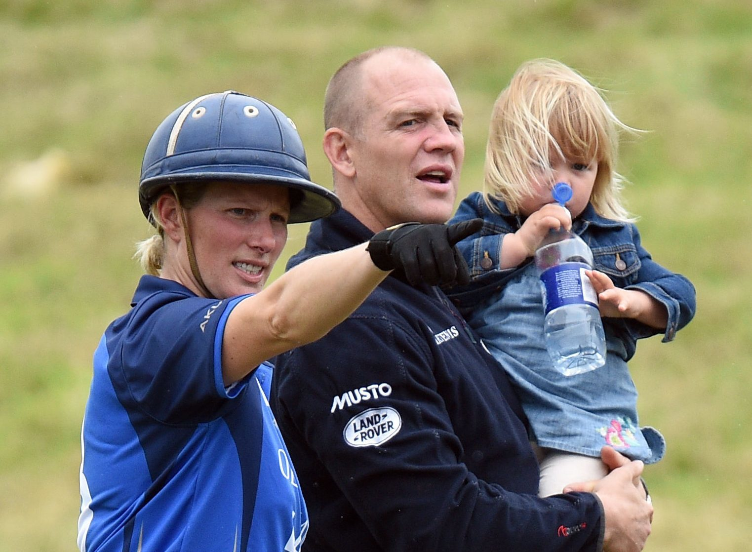 Zara and Mike Tindall with their daughter Mia Grace, as the couple are expecting their second child, a spokeswoman for the pair has said. (Andrew Matthews/PA Wire)
