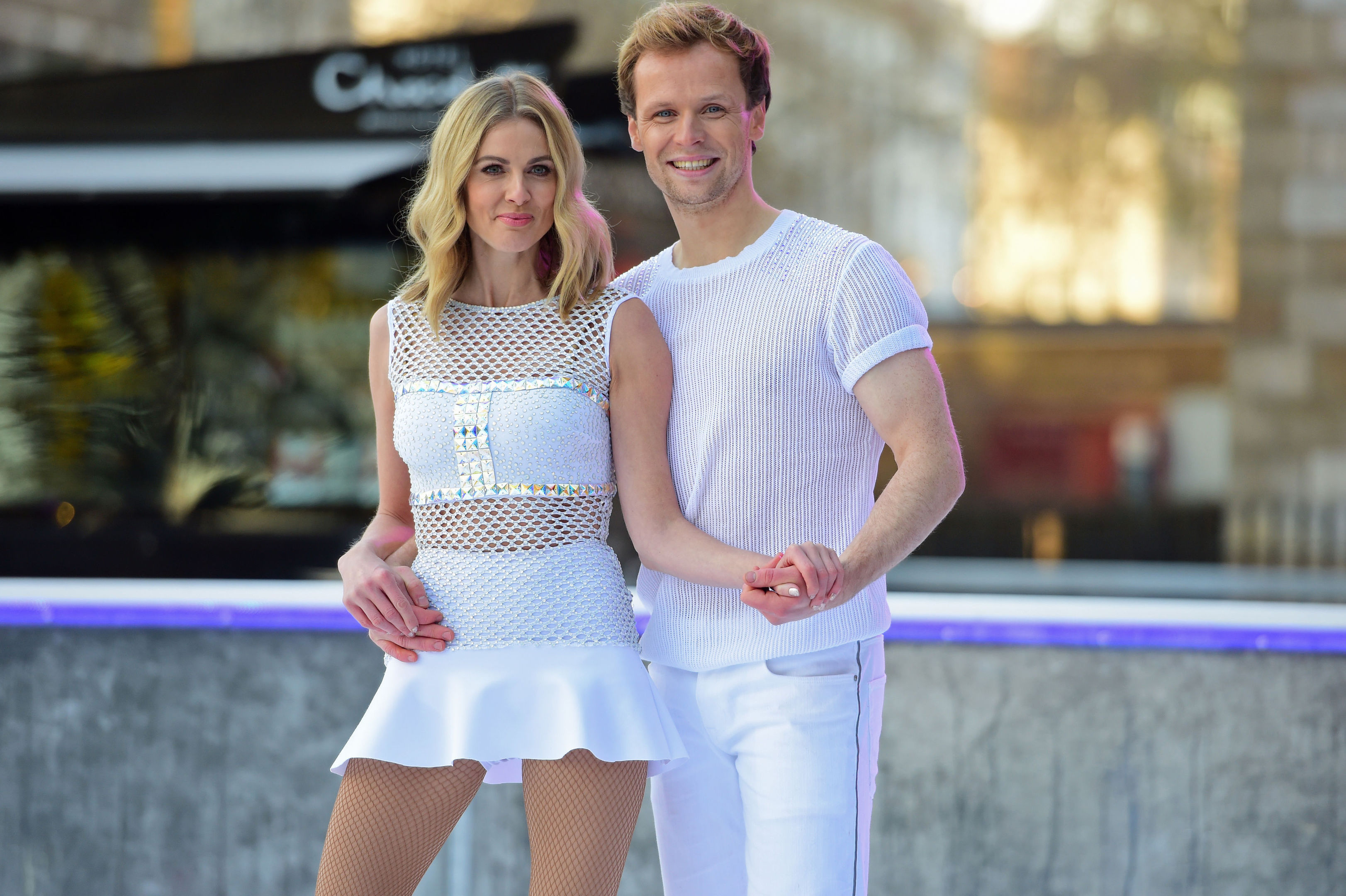 Donna Air and Dancing On Ice partner Mark Hanretty (David Mirzoeff/PA Wire)